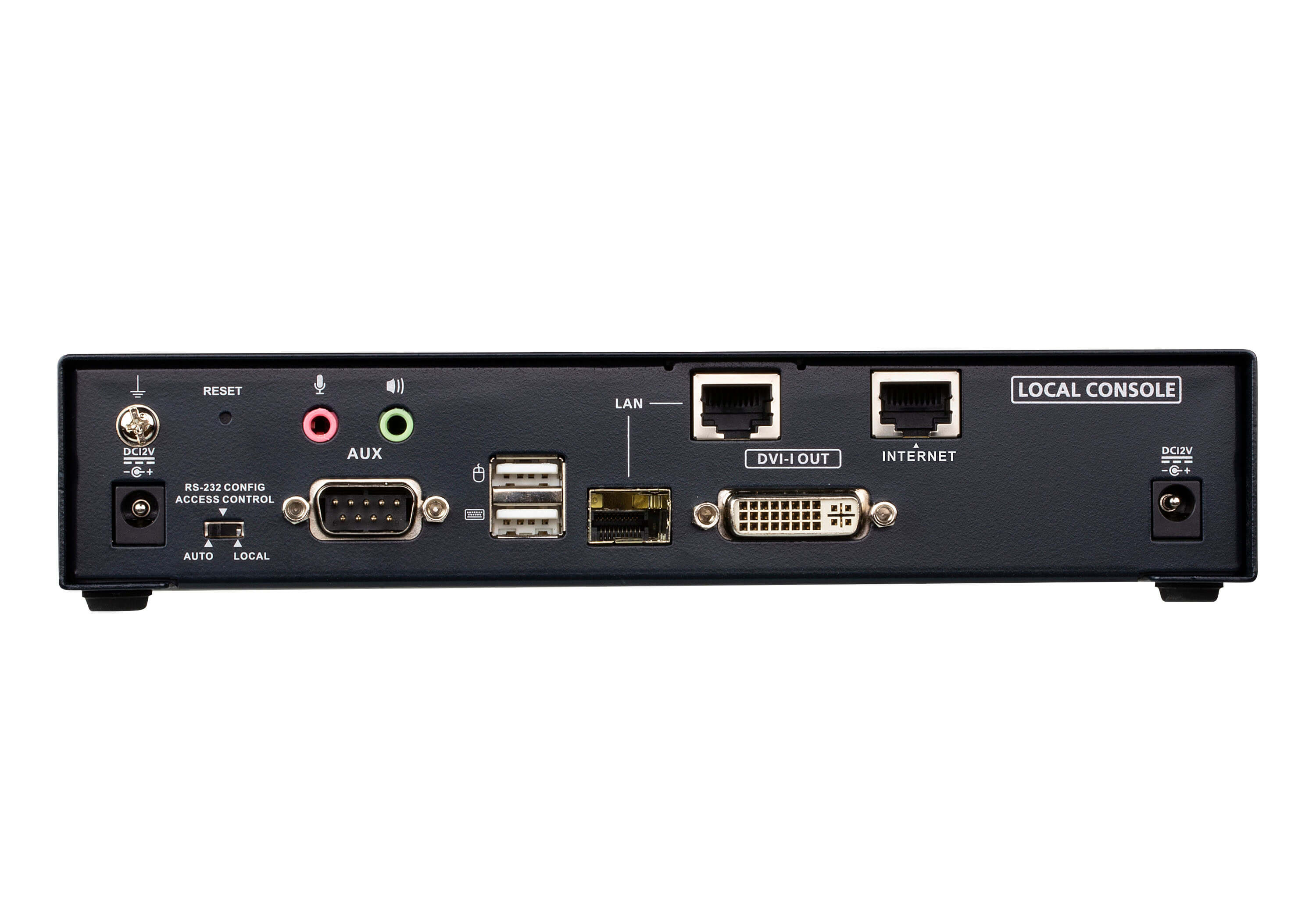 DVI-I Einzeldisplay KVM over IP Sender mit Internetzugang-2