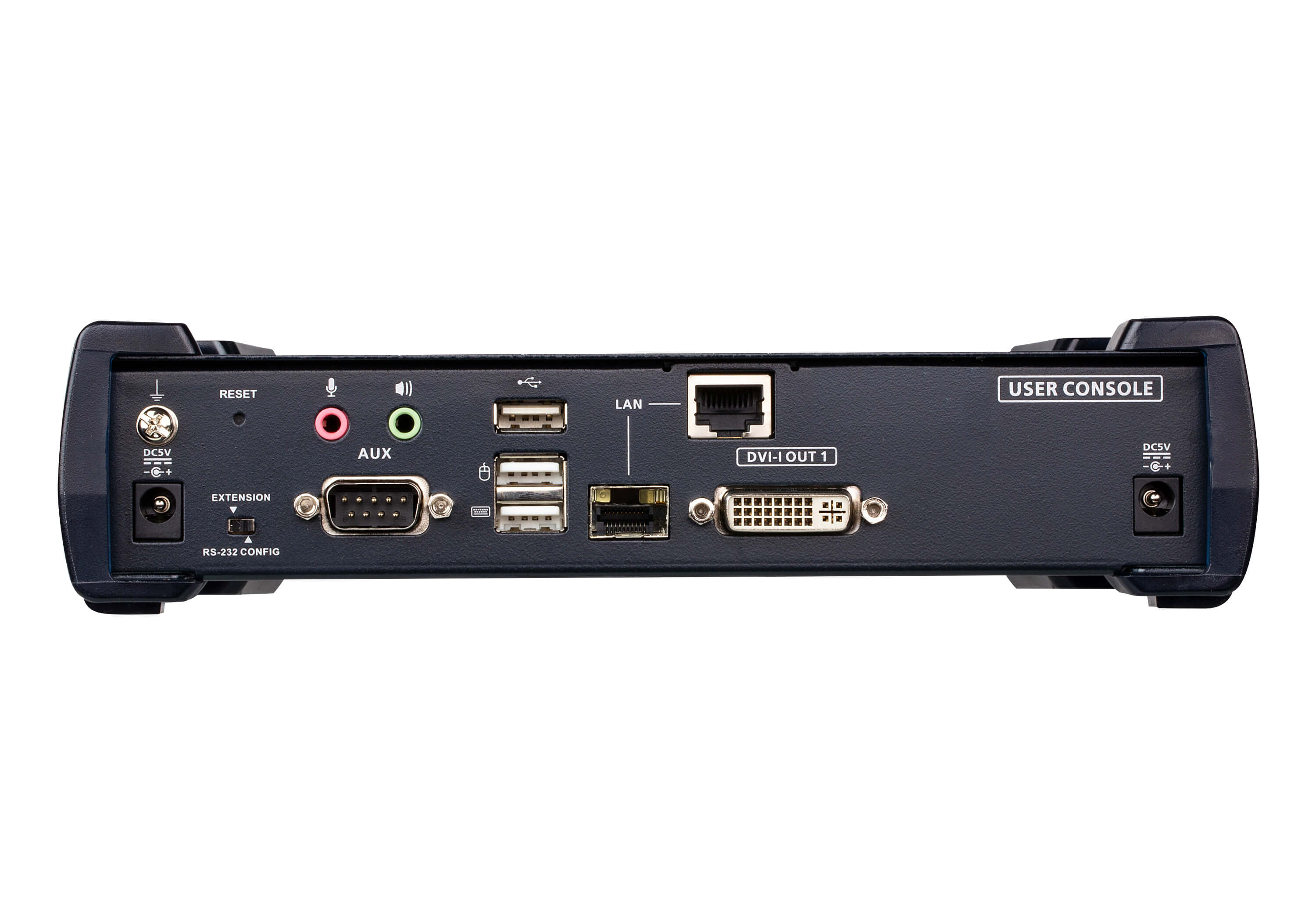 Receptor KVM por IP DVI-I single display USB-2