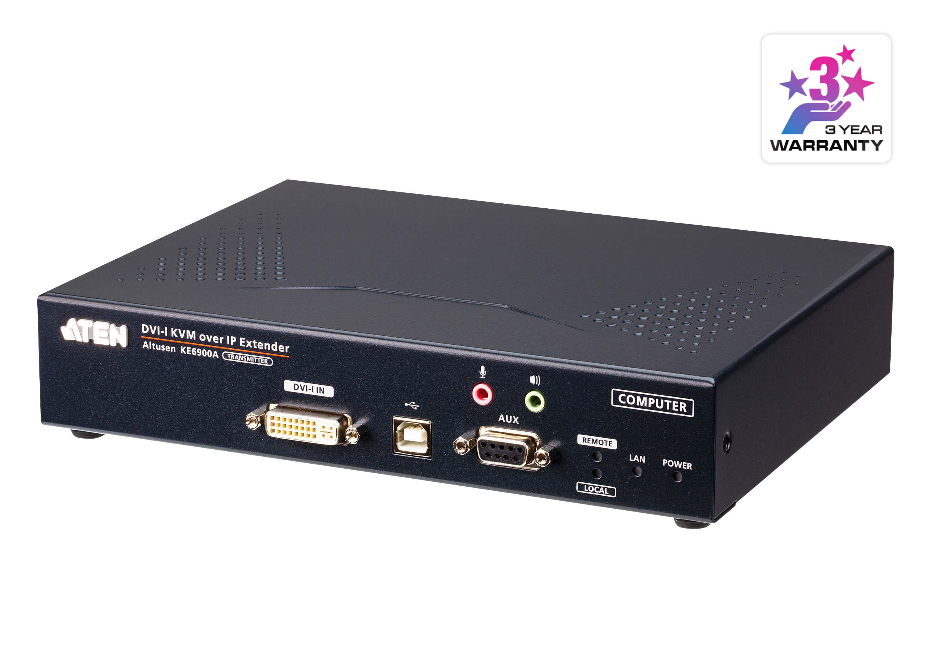 DVI-I Single Display KVM over IP Transmitter