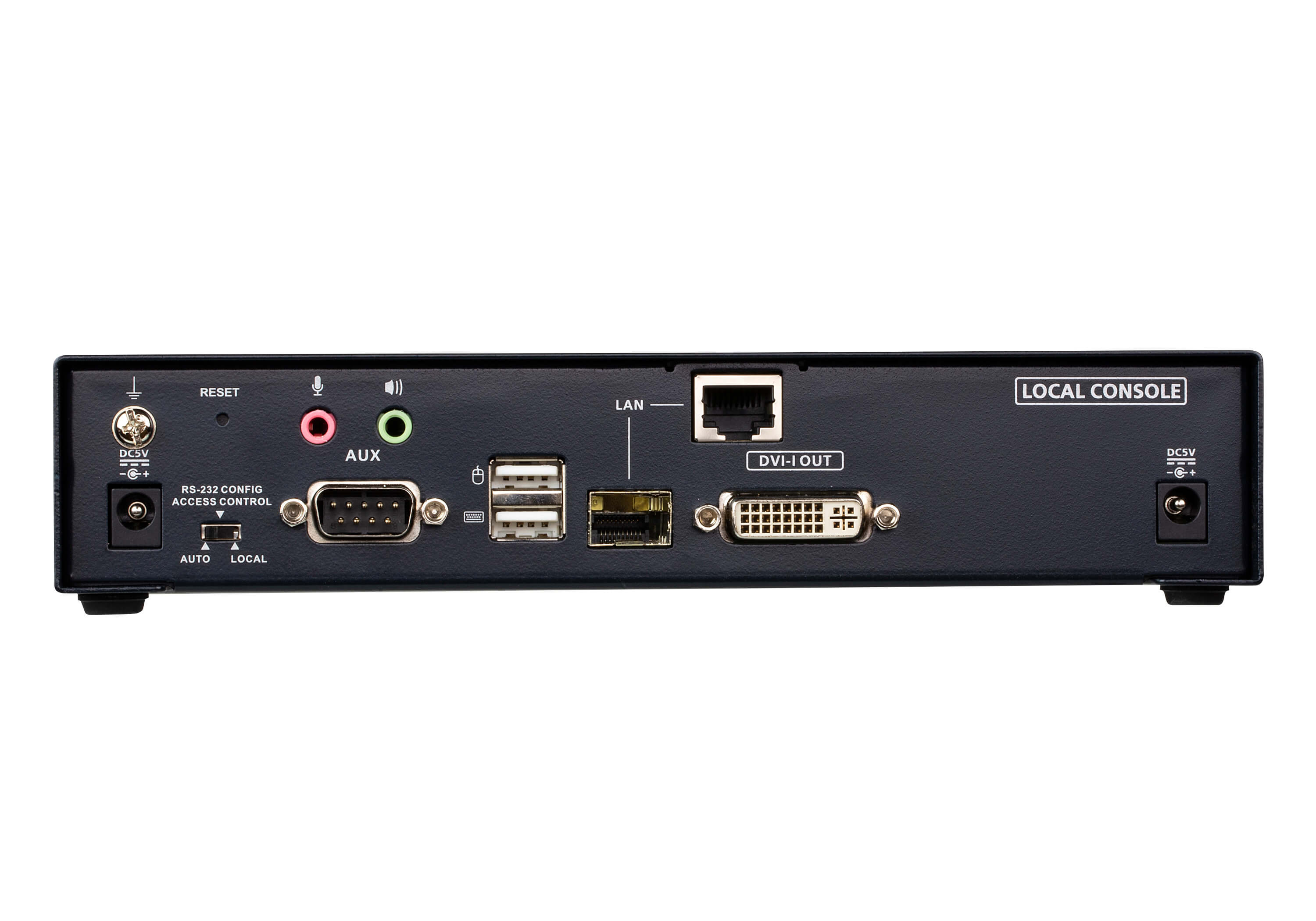 DVI-I Einzeldisplay KVM over IP Sender-2