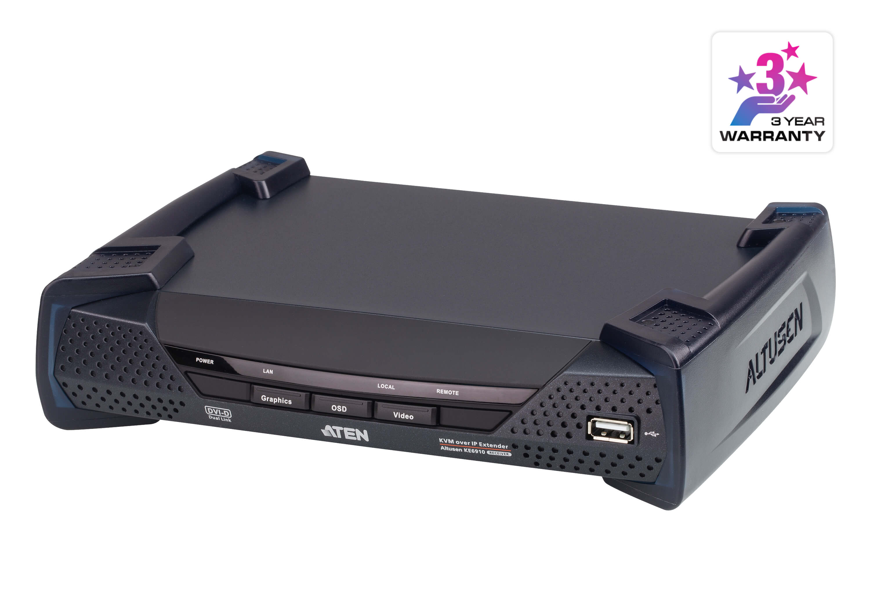 2K DVI-D Dual Link KVM over IP Receiver-1