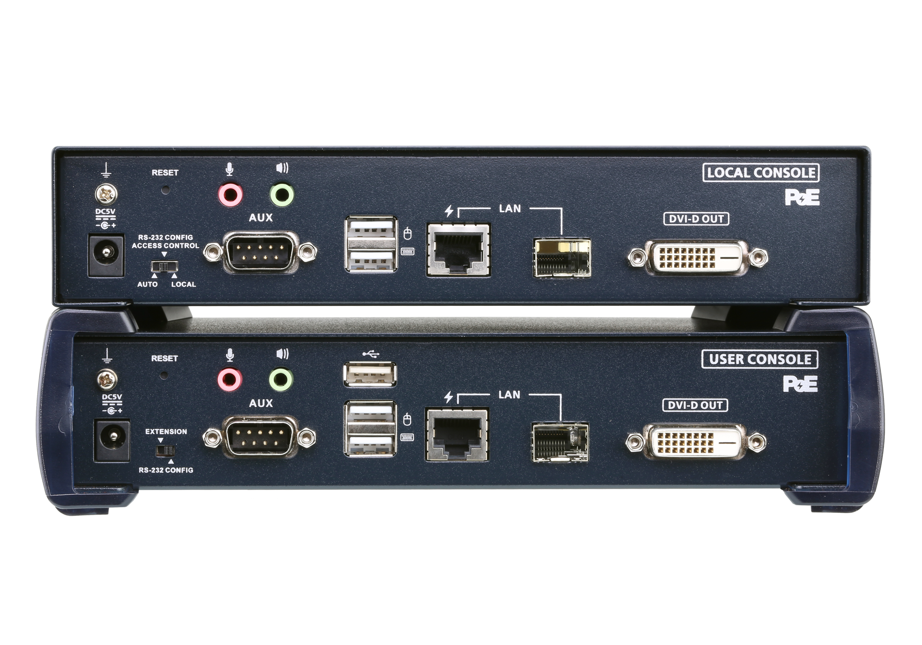 2K DVI-D Dual Link KVM over IP Extender with PoE-2