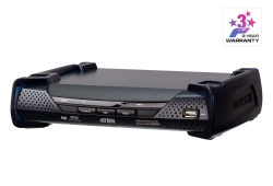 2K DVI-D Dual-Link KVM over IP Receiver with Dual SFP & PoE