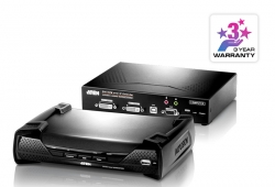 USB DVI-I Dual-Display KVM Over IP Extender