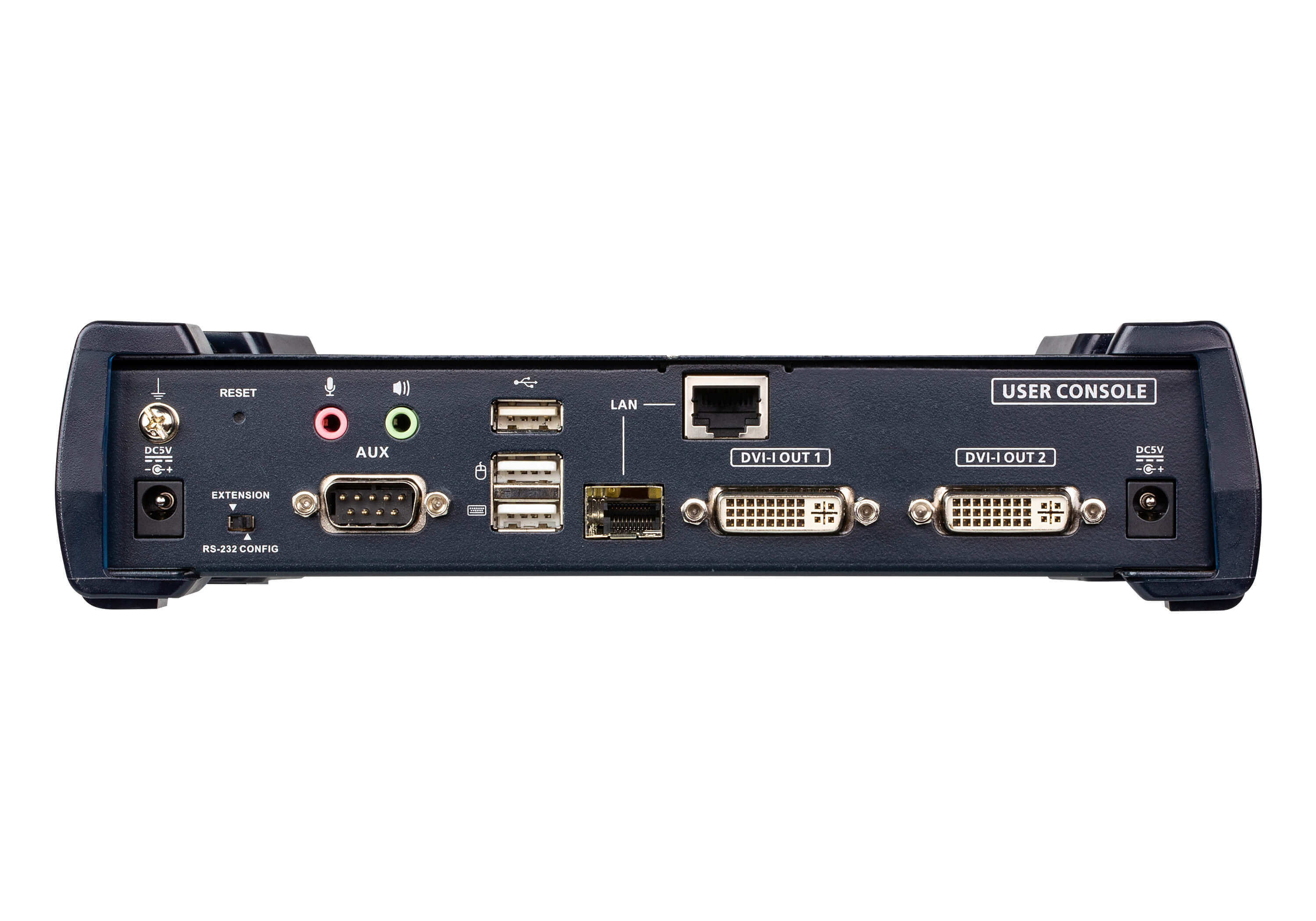 Receptor KVM por IP DVI-I dual display USB-2