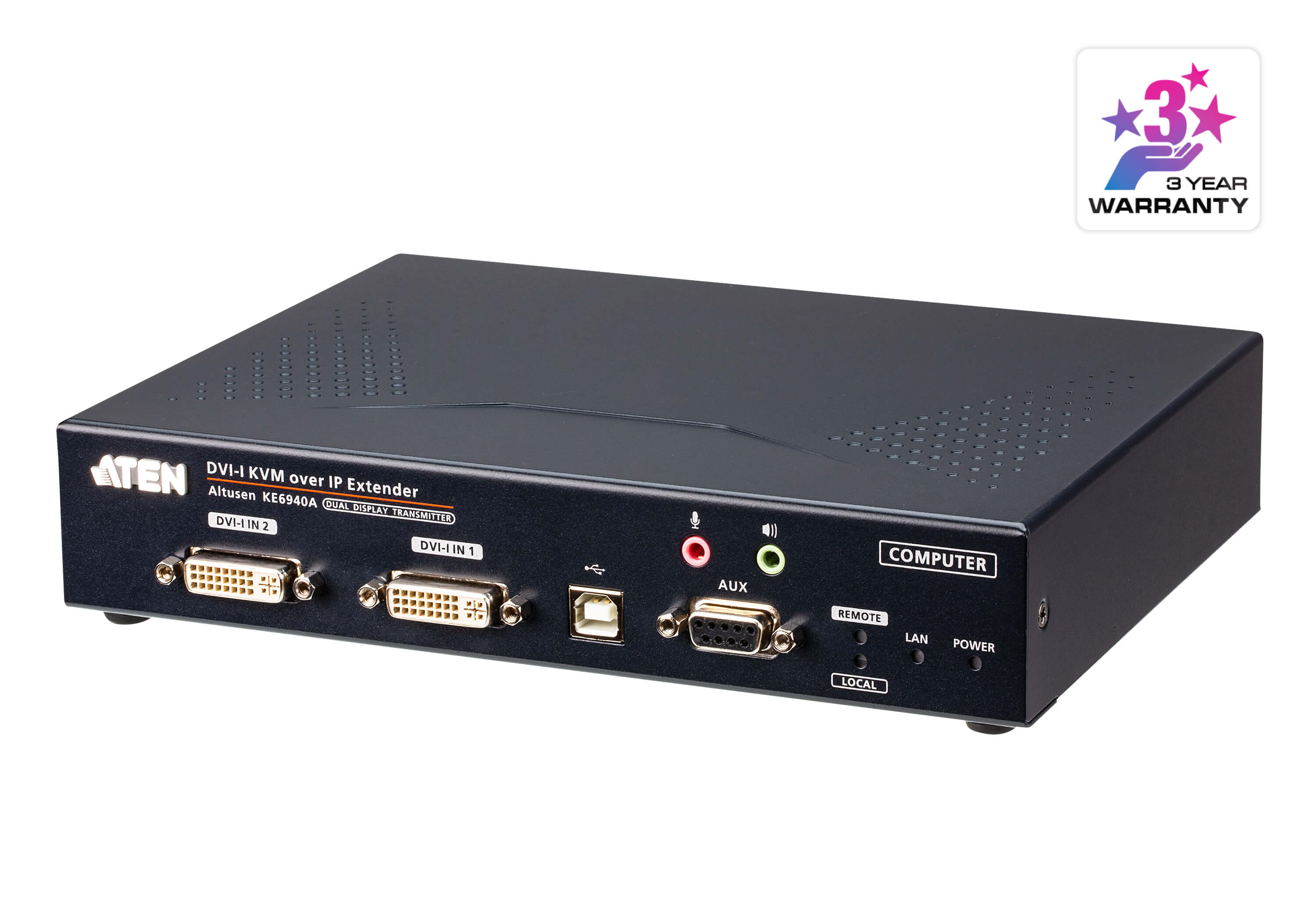DVI-I Dual Display KVM over IP Transmitter-1