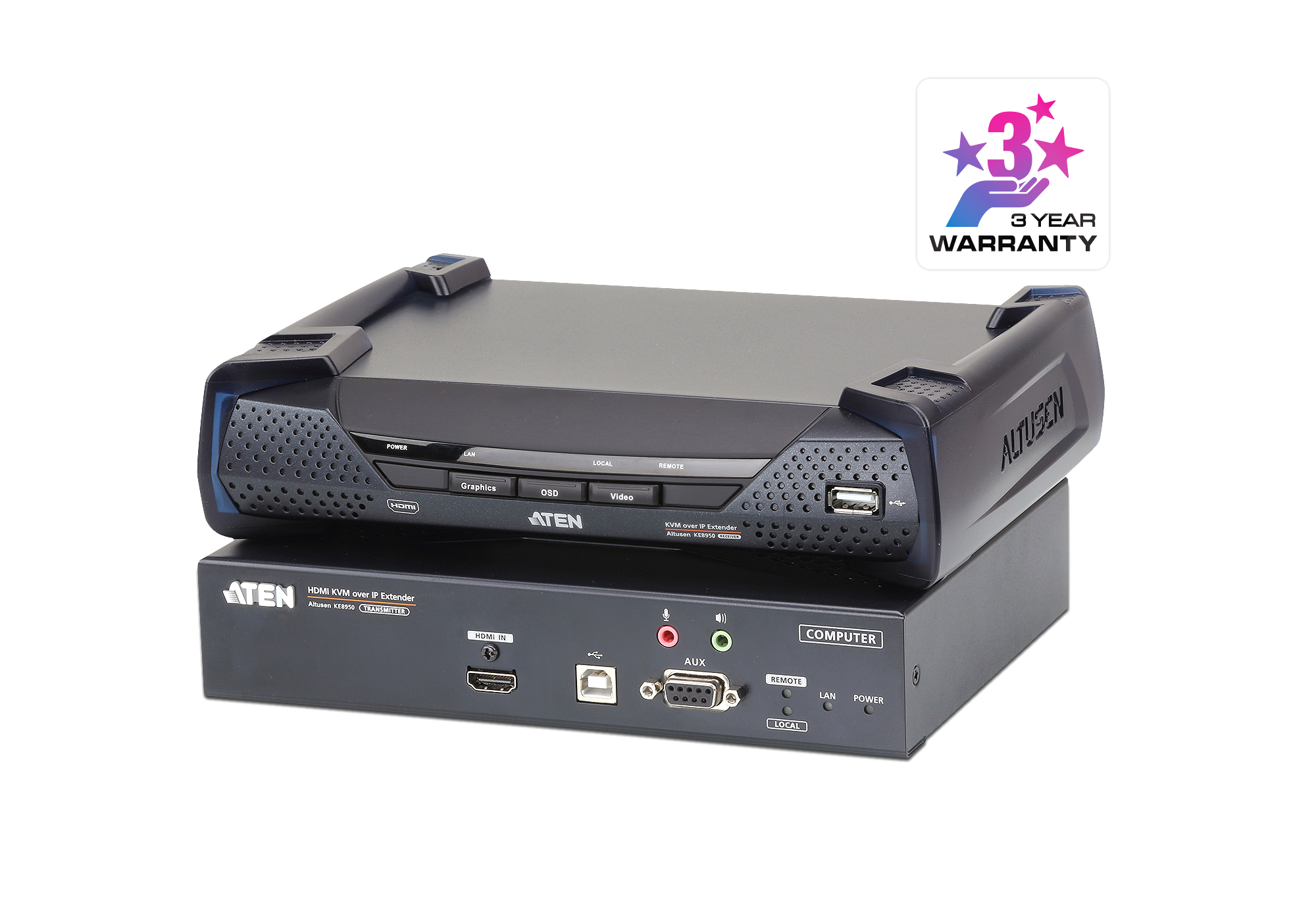 Extensor KVM por IP HDMI 4K single display USB