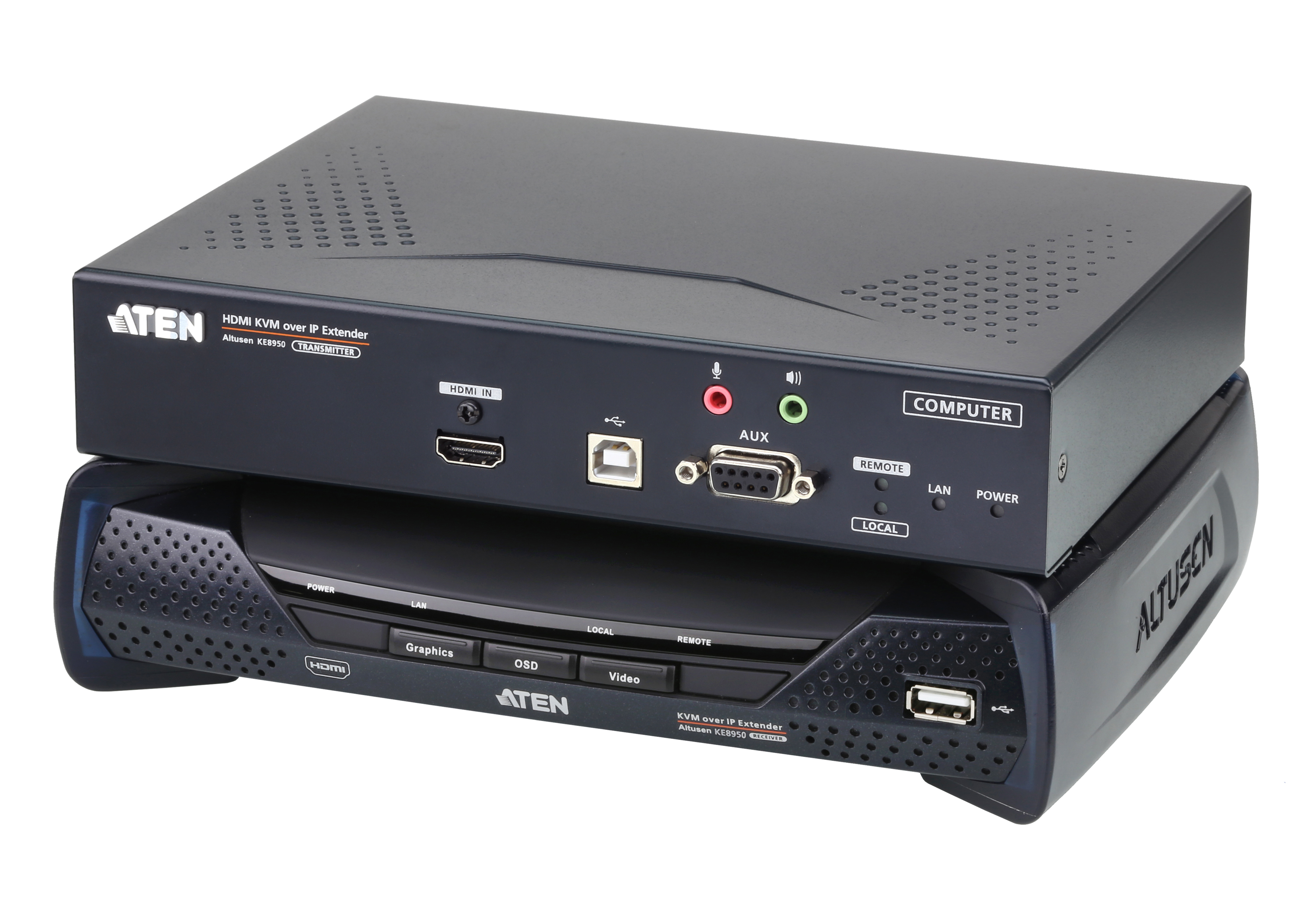 4K HDMI Single Display KVM over IP Extender-1