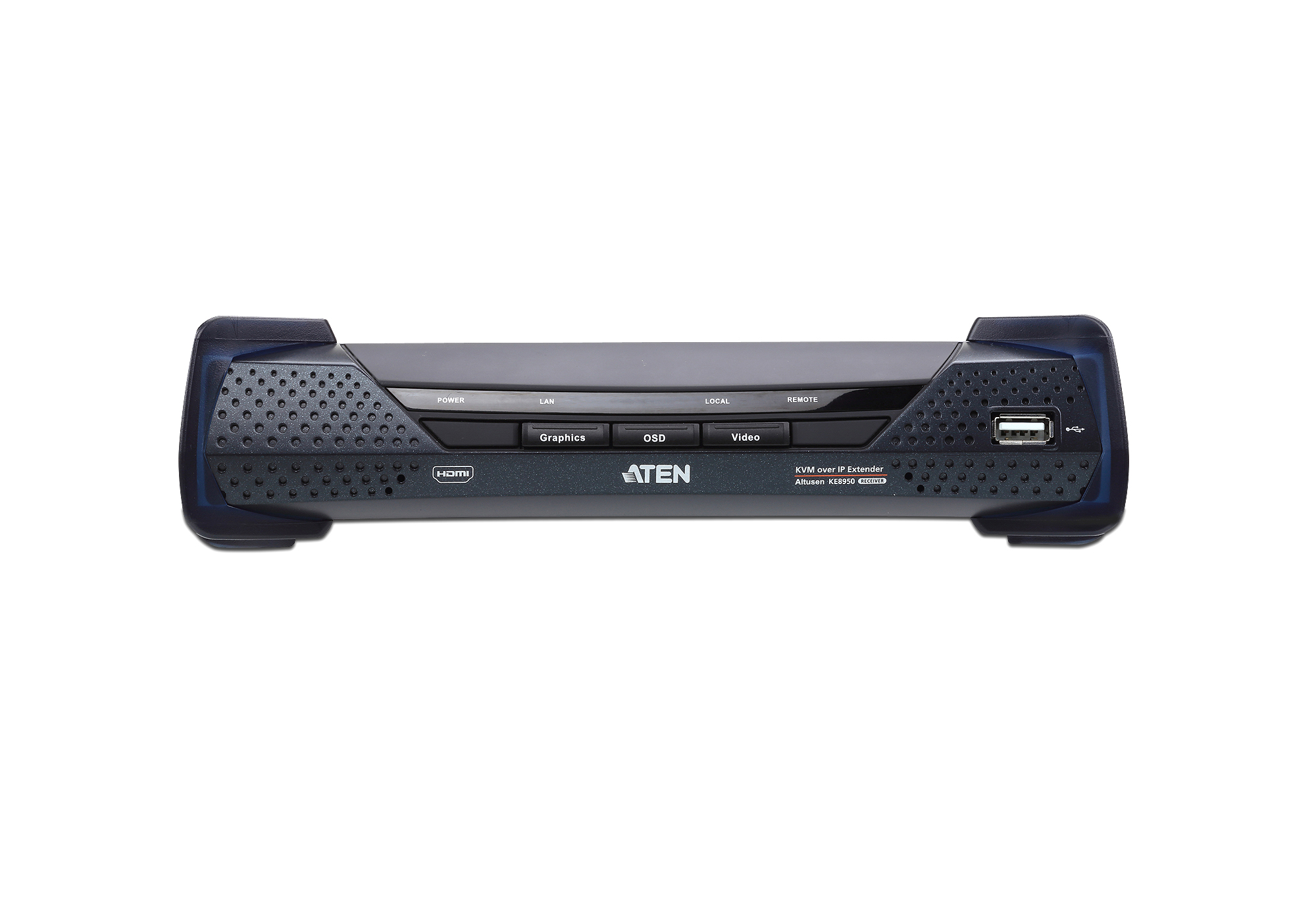 Extensor KVM por IP HDMI 4K single display USB-3