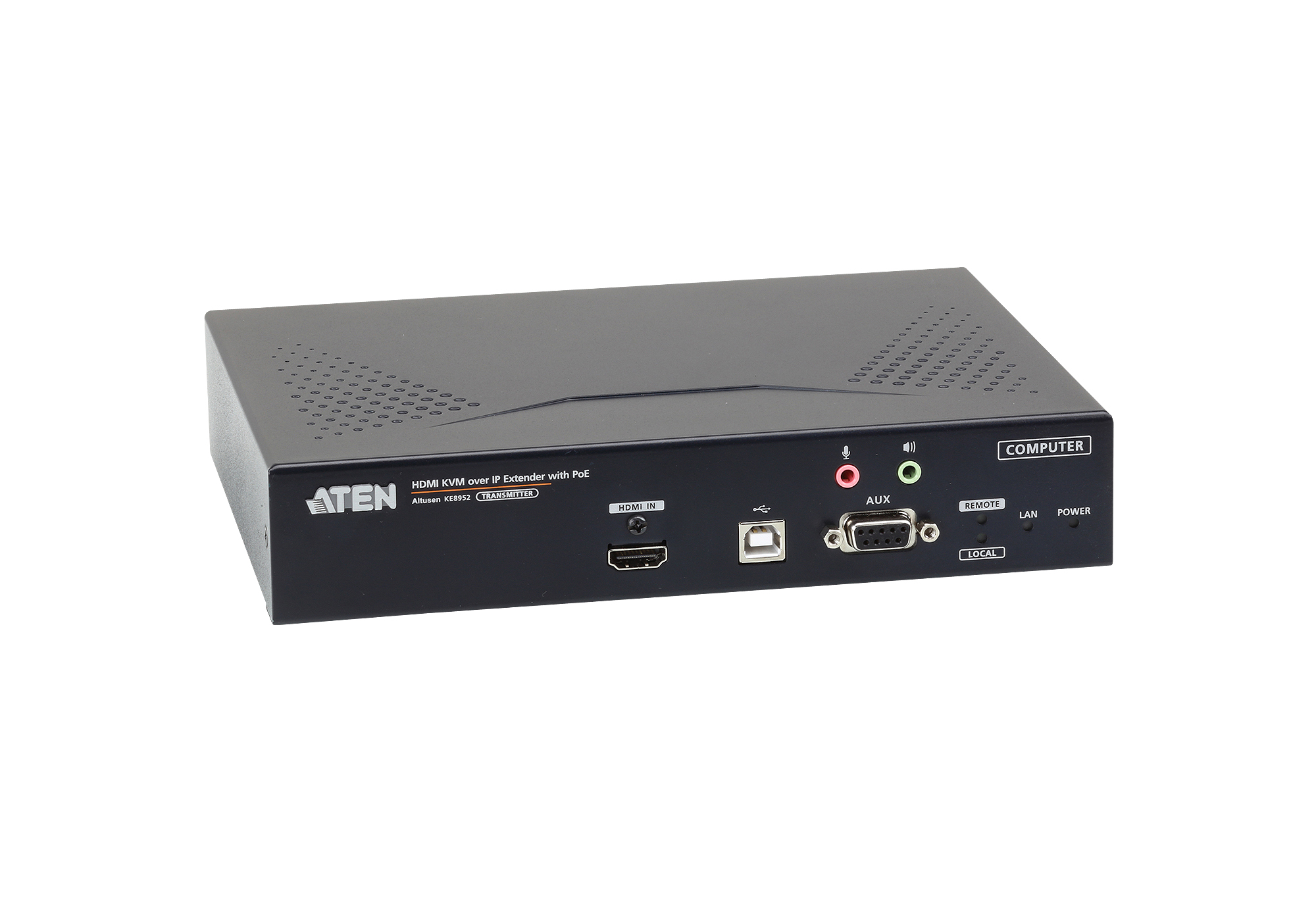 TRANSMISOR KVM POR IP HDMI 4K SINGLE DISPLAY CON PoE-4