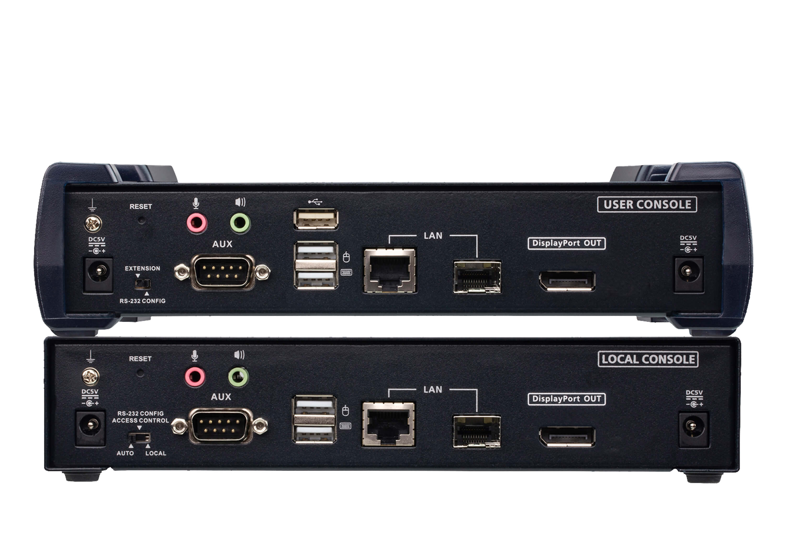 4K DisplayPort Einzeldisplay KVM over IP Extender-2