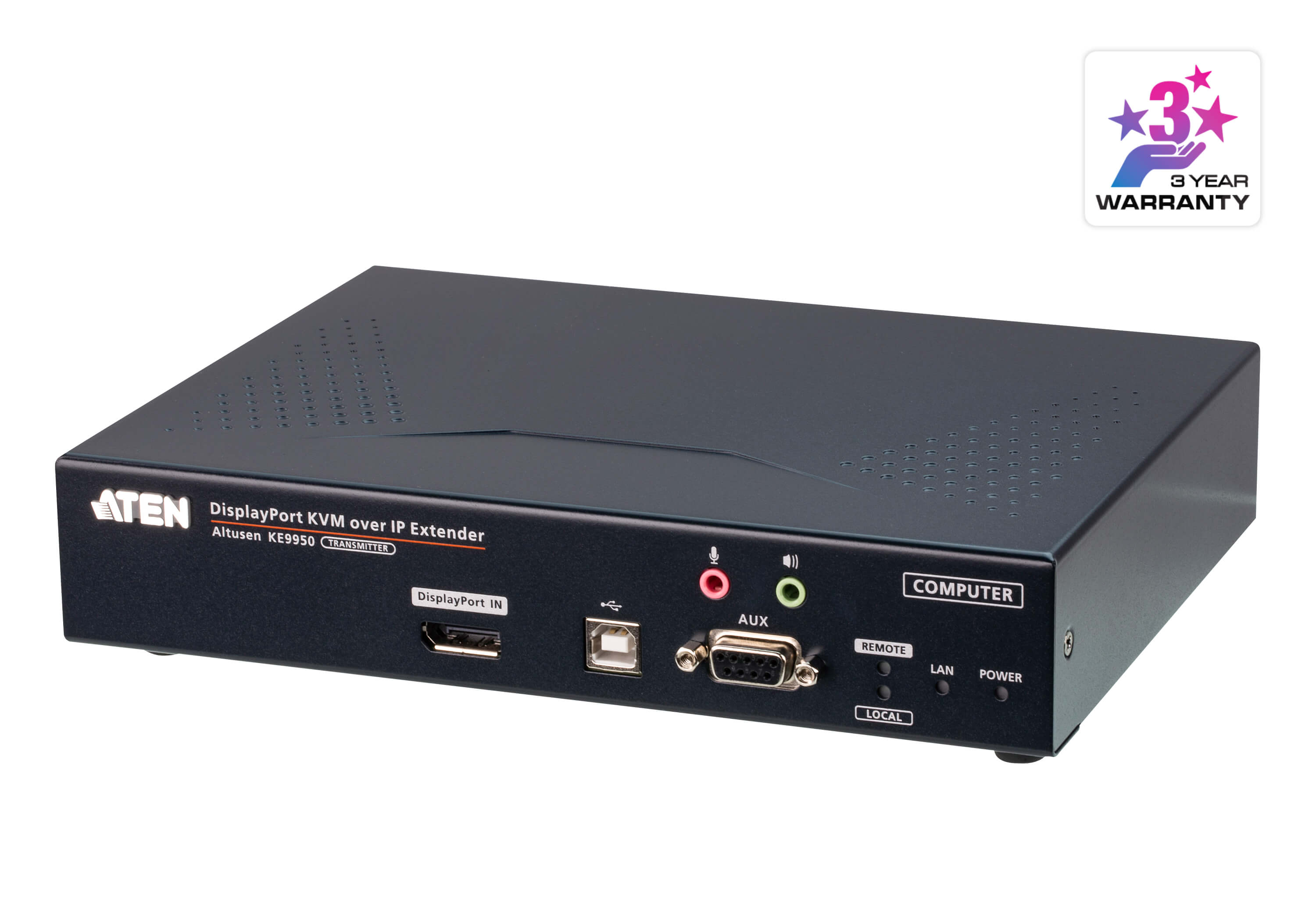 4K DisplayPort Single Display KVM over IP Transmitter-1