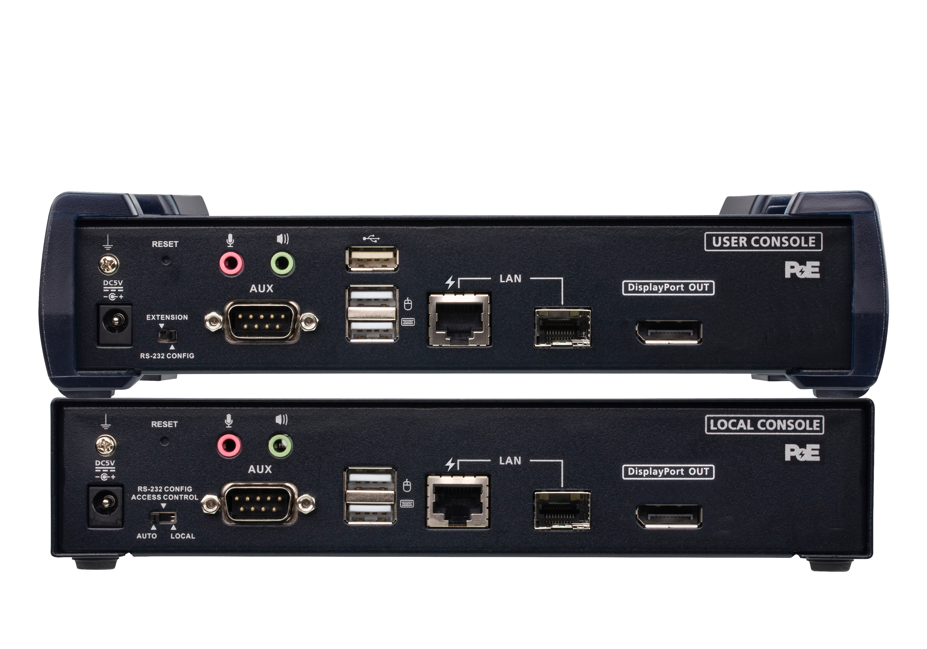 Estensore KVM over IP 4K DisplayPort a display singolo con PoE-2