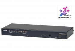 1-Local/Remote Share Access 8-Port Cat 5 KVM over IP Switch with Daisy-Chain Port