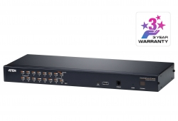 Switch KVM over IP Multi-Interface Cat 5 a 16 porte per 1 accesso condiviso locale/remoto