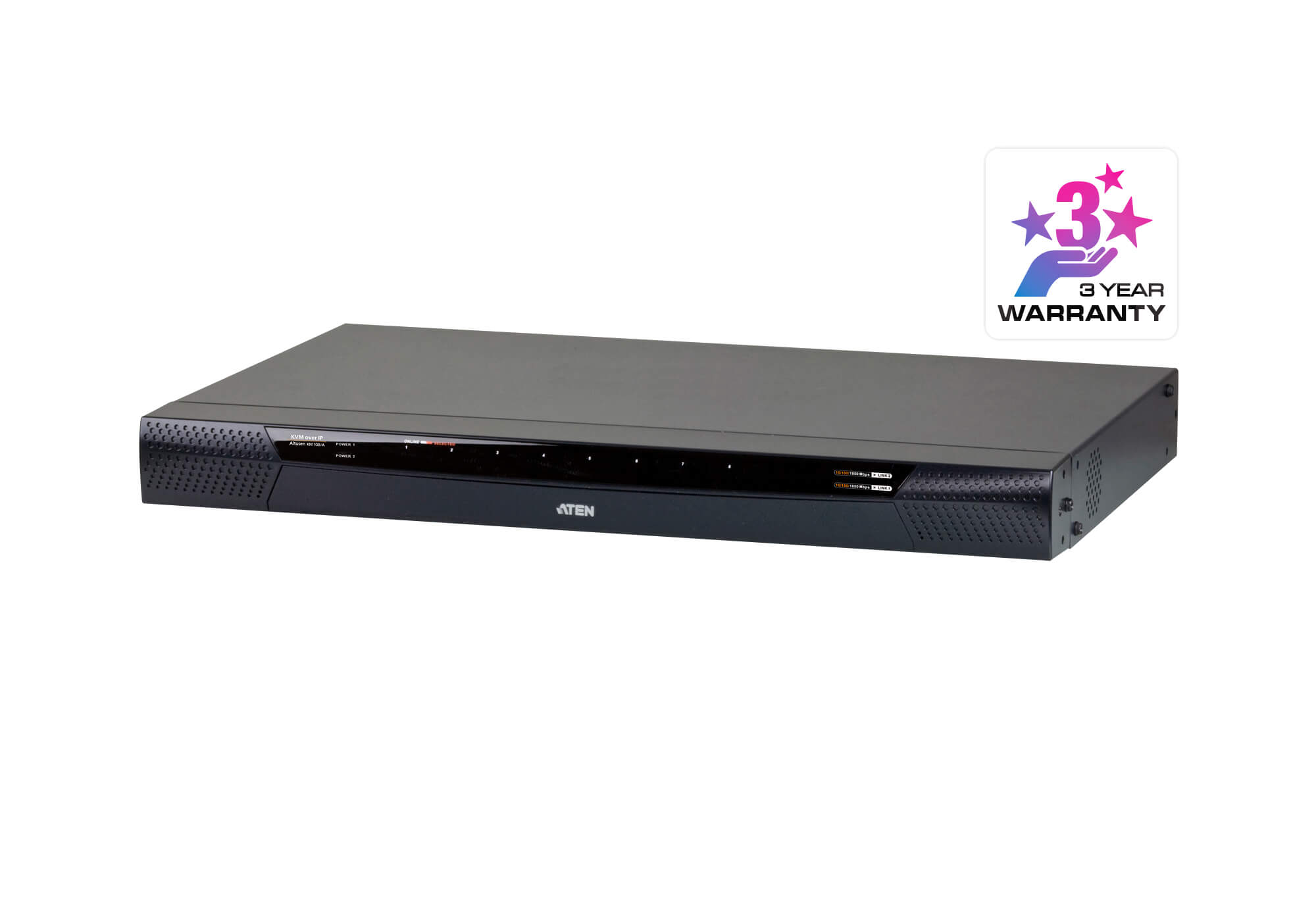 1-Local /1-Remote Access 8-Port Cat 5 KVM over IP Switch mit Virtual Media (1920 x 1200)-1