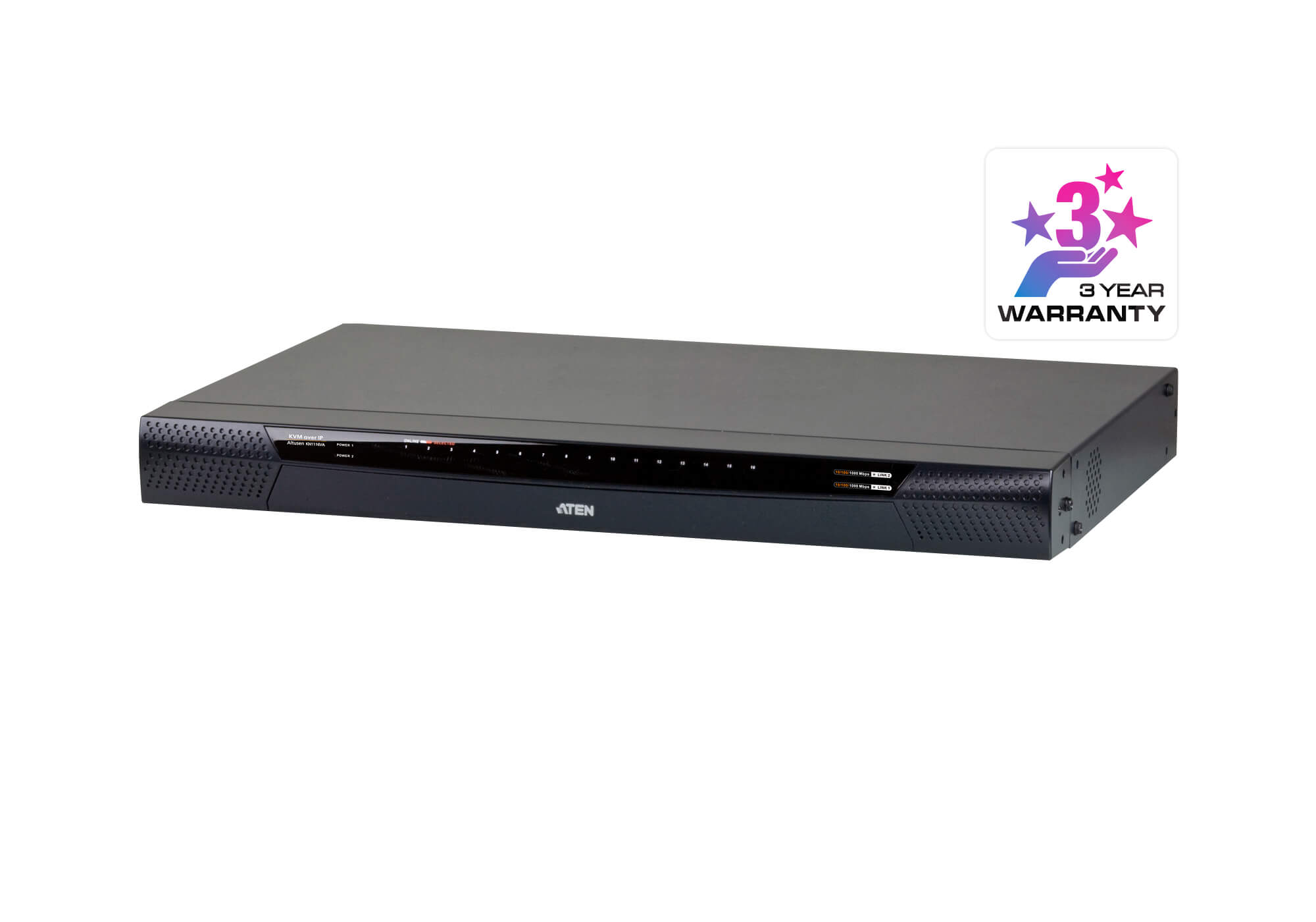 1 acesso local/1 remoto Switch KVM de 16 portas Cat 5 sobre IP com Suporte Virtual (1920 x 1200)-1