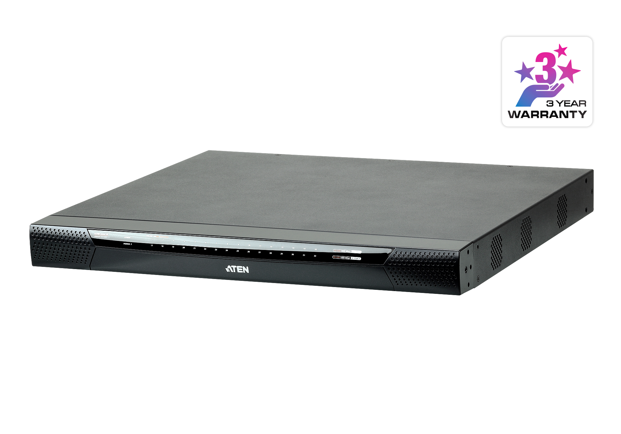 1-Local/1-Remote  Access 32-Port Multi-Interface Cat 5 KVM over IP Switch-2