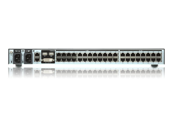 Switch KVM por IP multi-interfaz Cat 5 de 40 puertos de 1 consola local y 2 consolas remotas-2