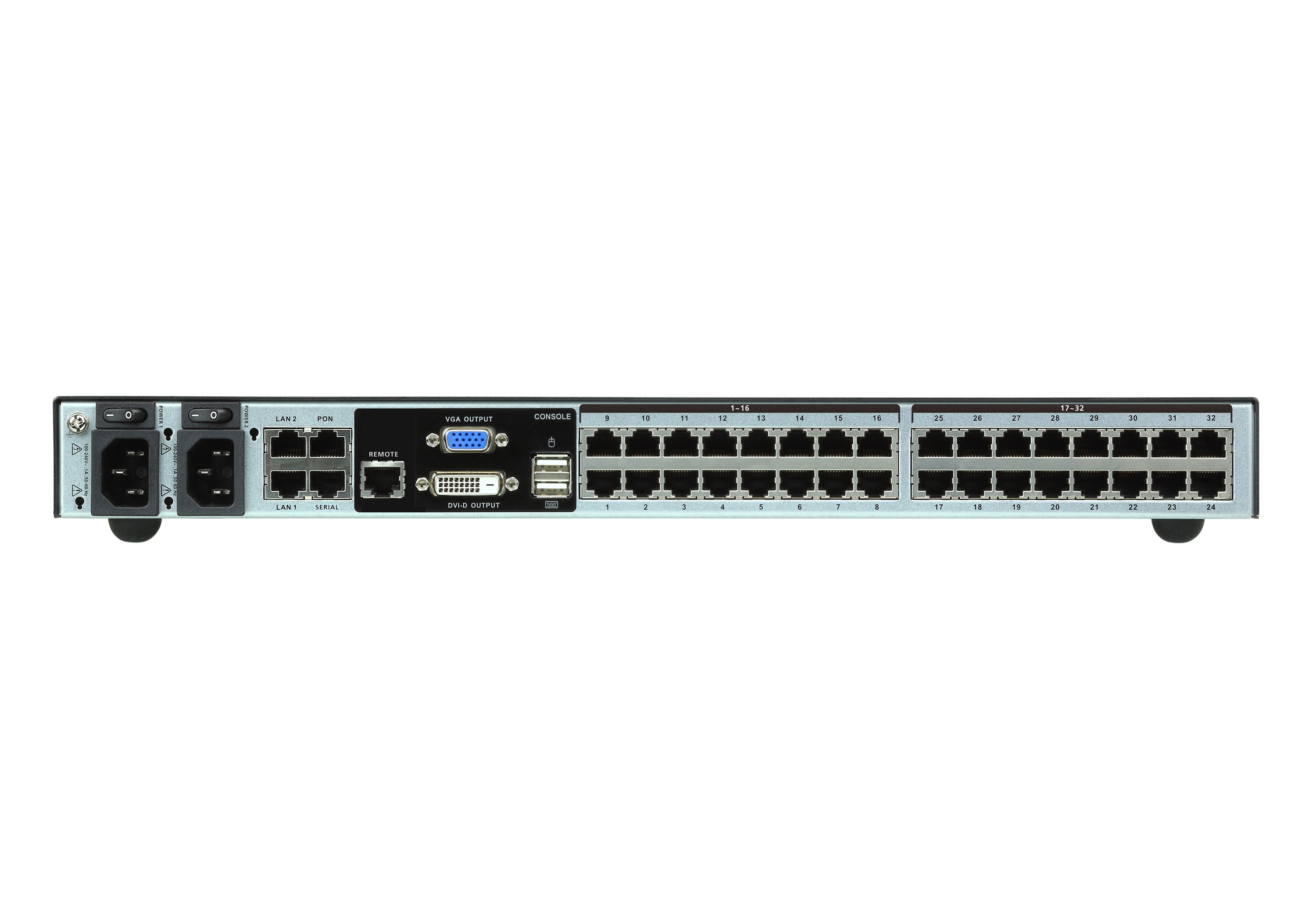 1-Local/4-Remote  Access 40-Port Multi-Interface Cat 5 KVM over IP Switch-2