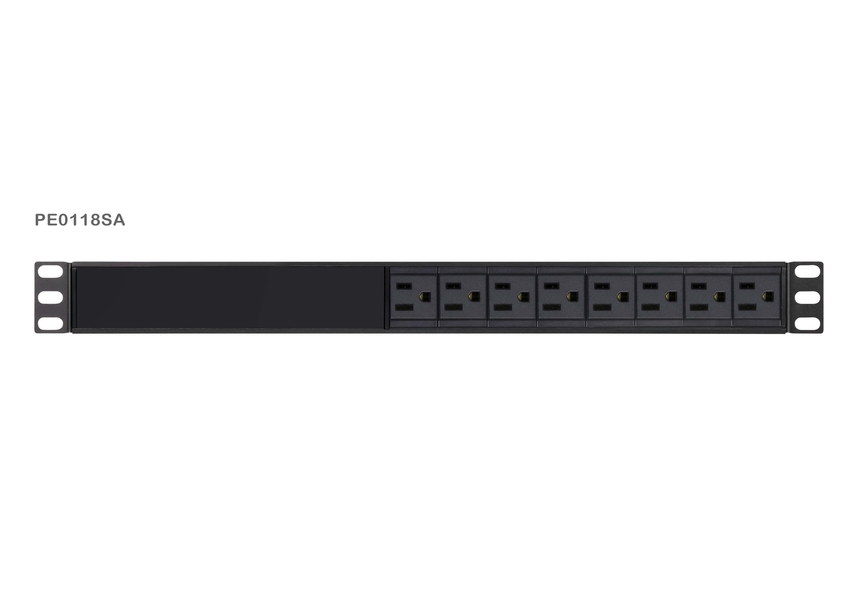 1U Basic PDU with Surge Protection-2