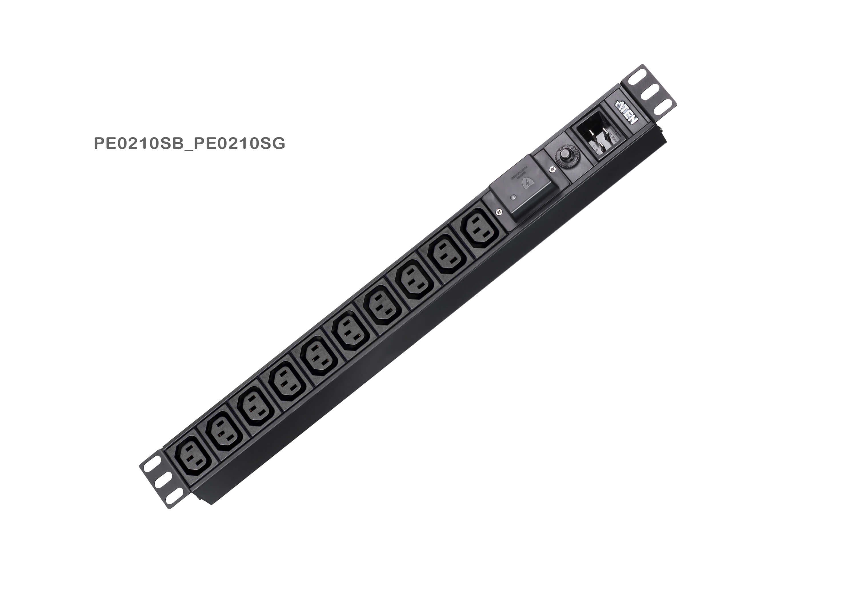 Basic 1U PDU with surge protection-4