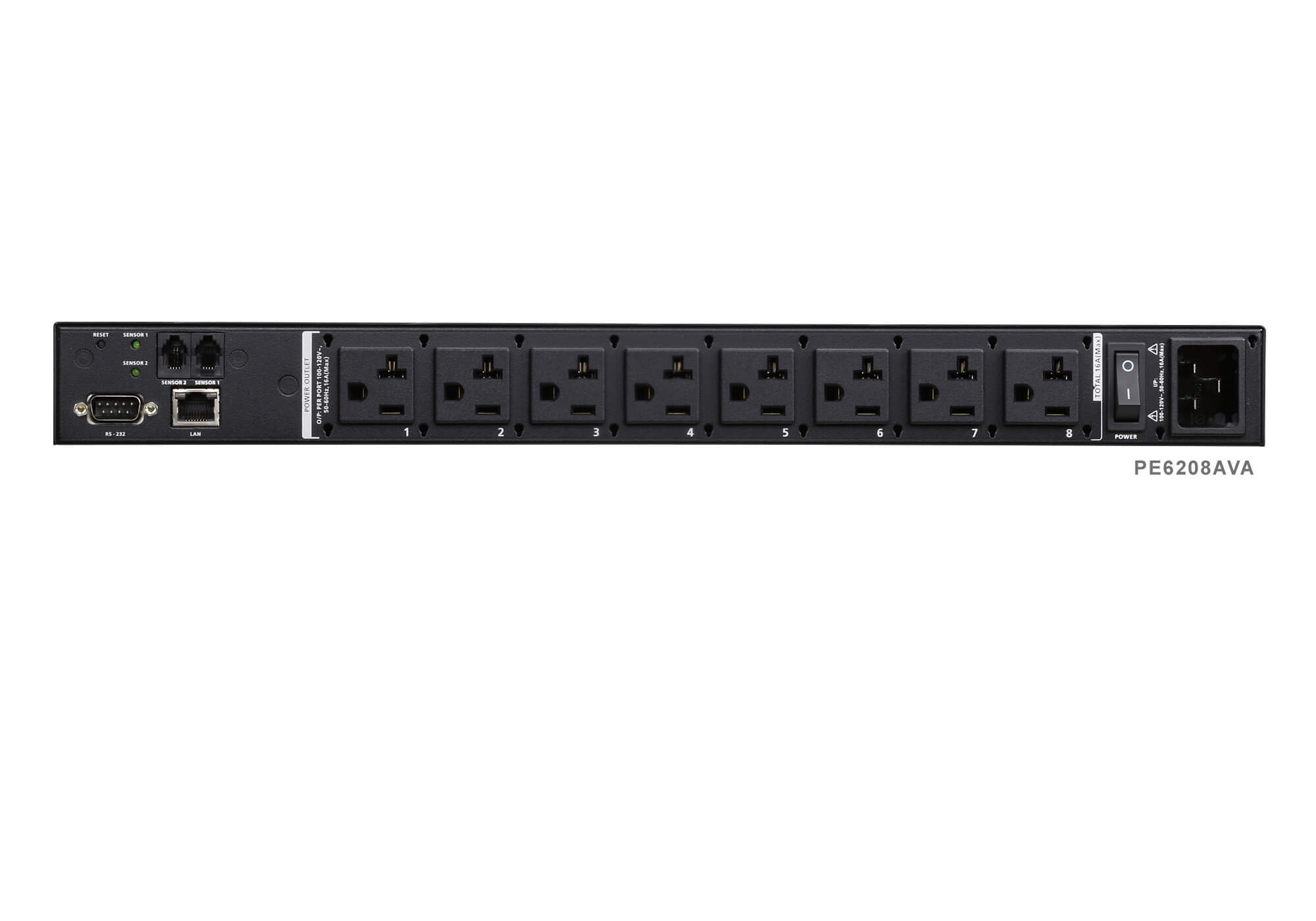 8 Outlet Eco Pdu Pe6208av Aten Switched Patch Panel Diagram Moreover Cat 5 Wiring Phone Jack Further 2