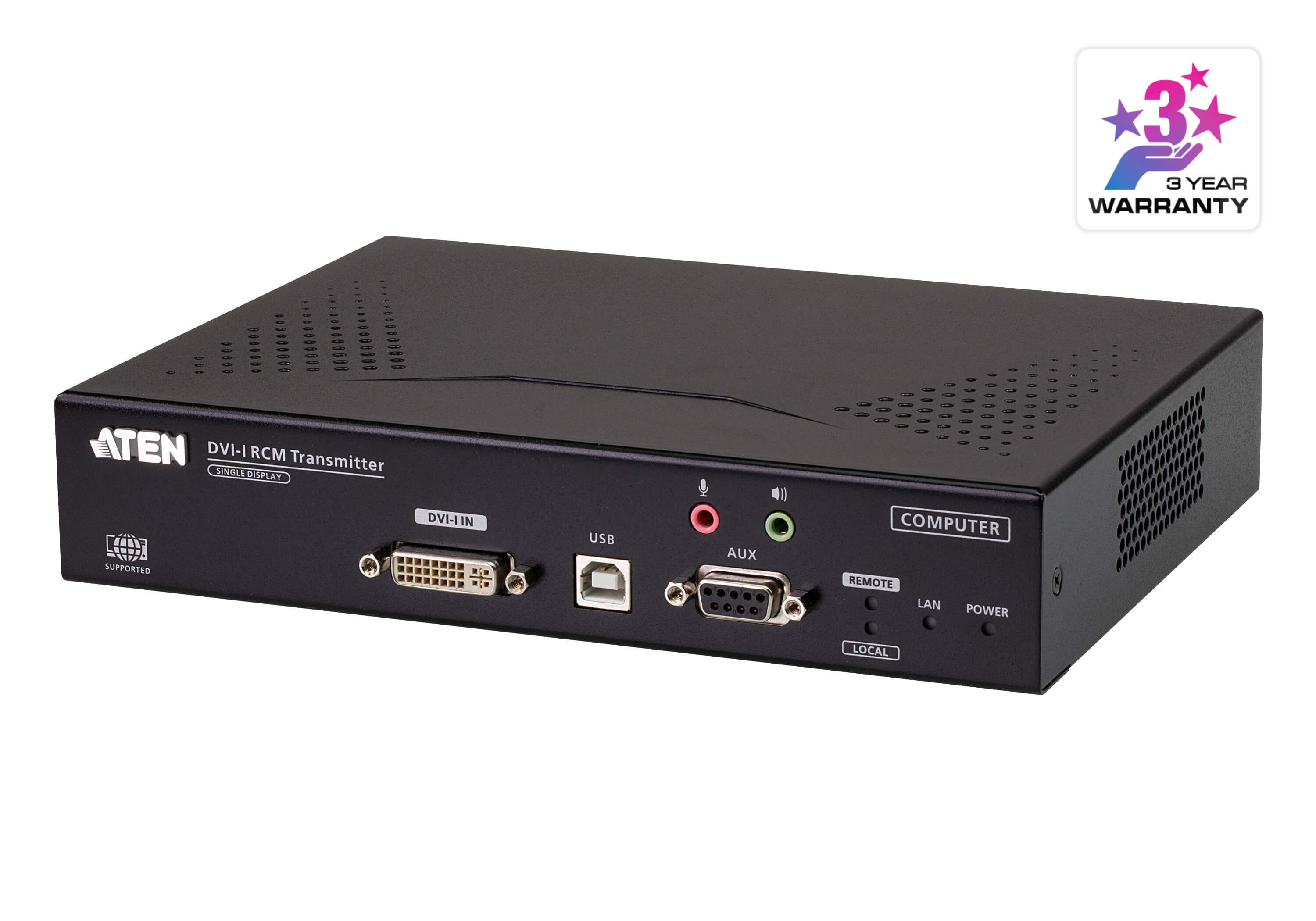 DVI-I Single Display KVM over IP Transmitter with Remote Access-2