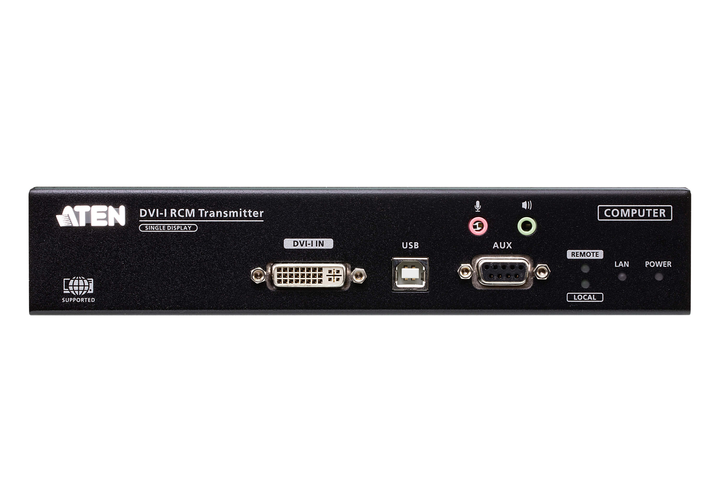 DVI-I Single Display KVM over IP Transmitter with Remote Access-3