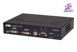 DVI-I Dual Display KVM over IP Transmitter with Remote Access
