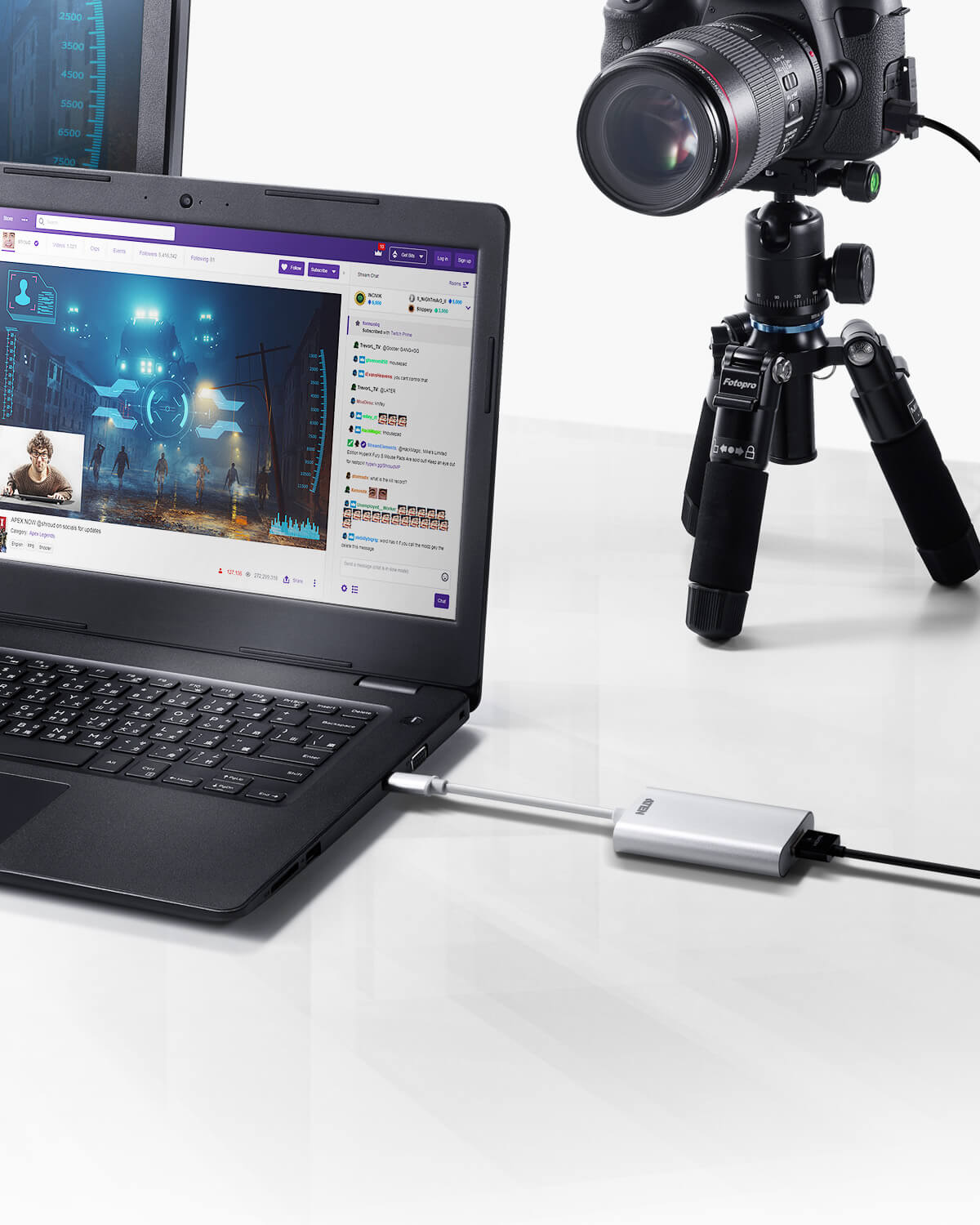 Capturadora de vídeo CAMLIVE™ HDMI a USB-C UVC-3