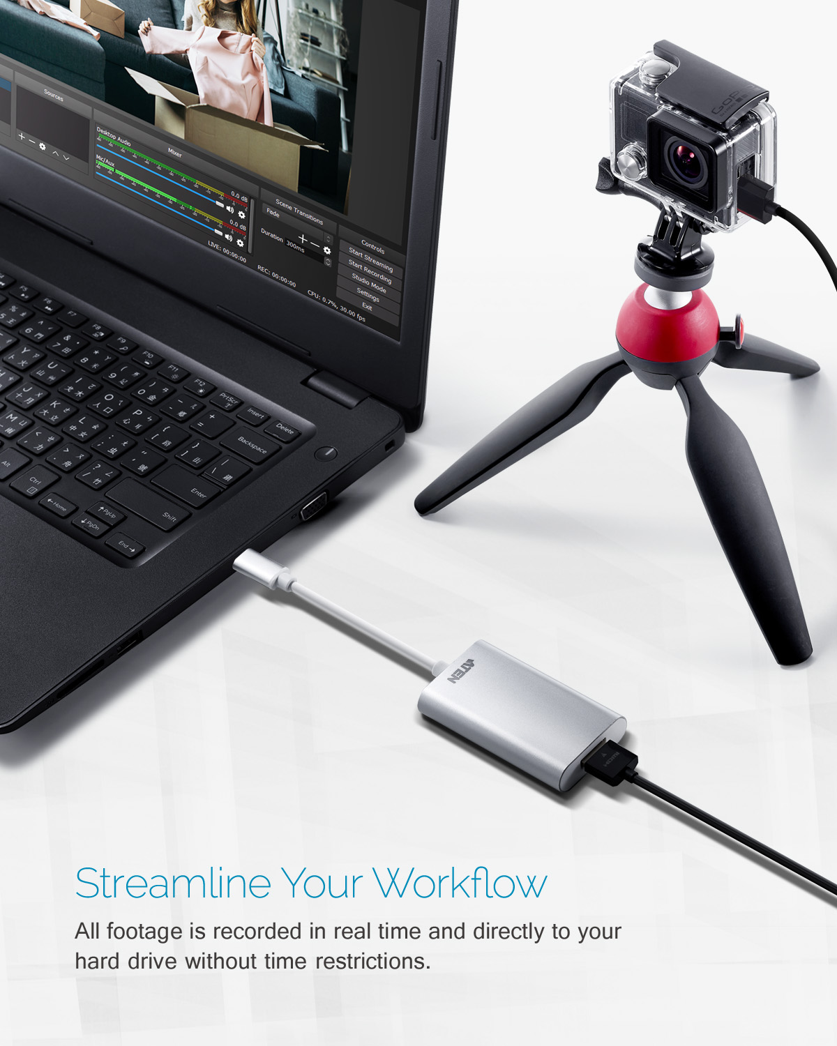 CAMLIVE™ (Captura Vídeo UVC HDMI para USB-C UVC)-5