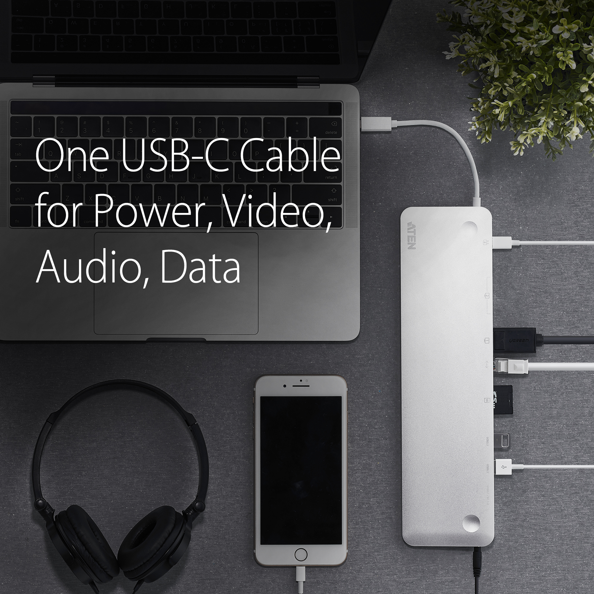 USB-C Multiport Dock with Power Pass-Through-4