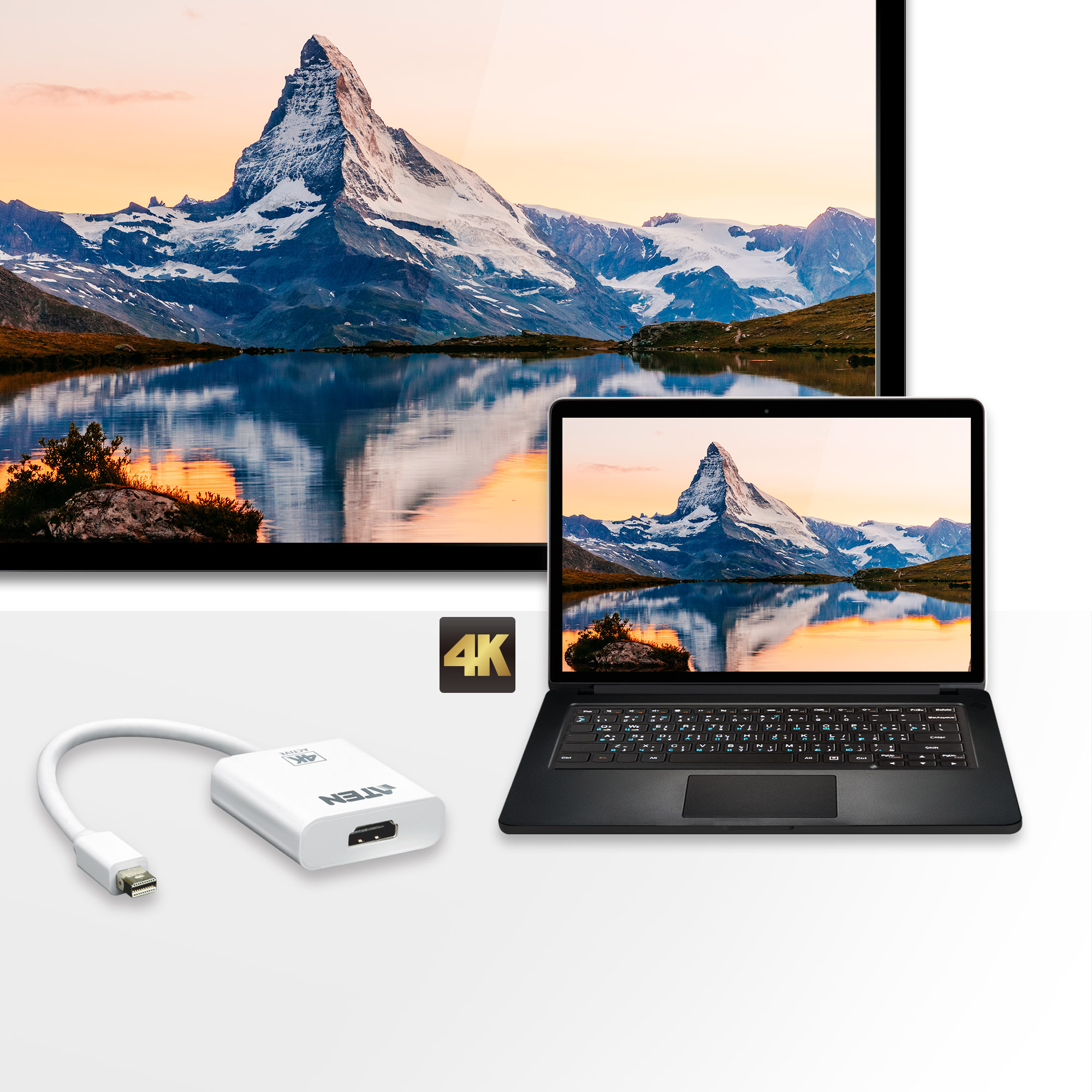 Adaptador activo de Mini DisplayPort a HDMI 4K-3