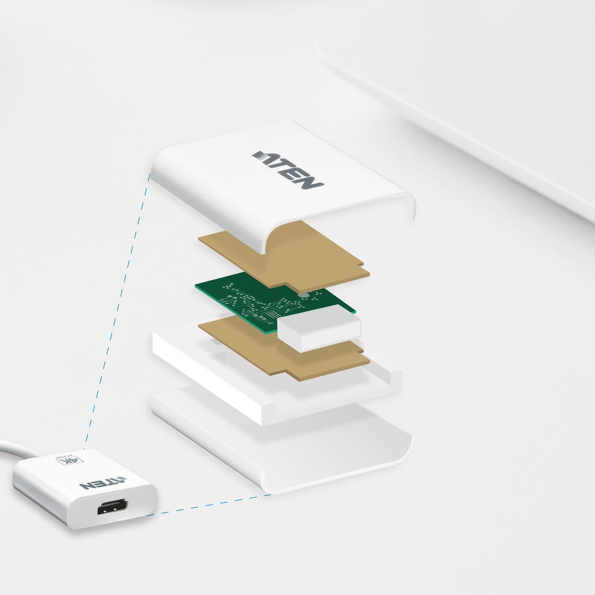 Adaptador activo de Mini DisplayPort a HDMI 4K-4
