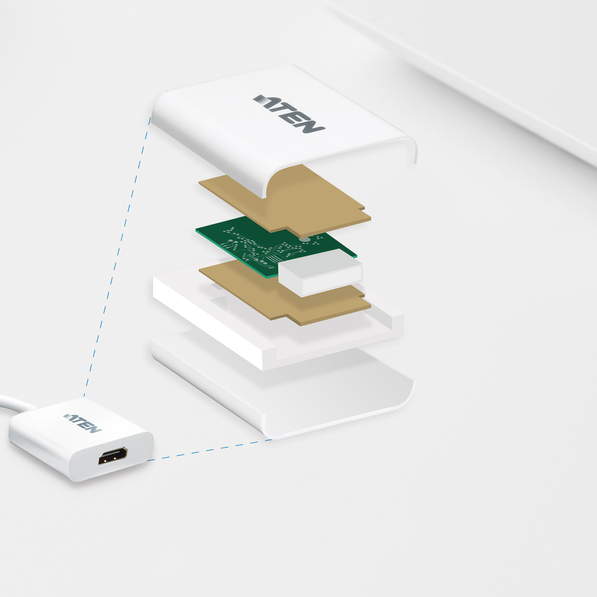 Adaptador de DisplayPort a HDMI-4