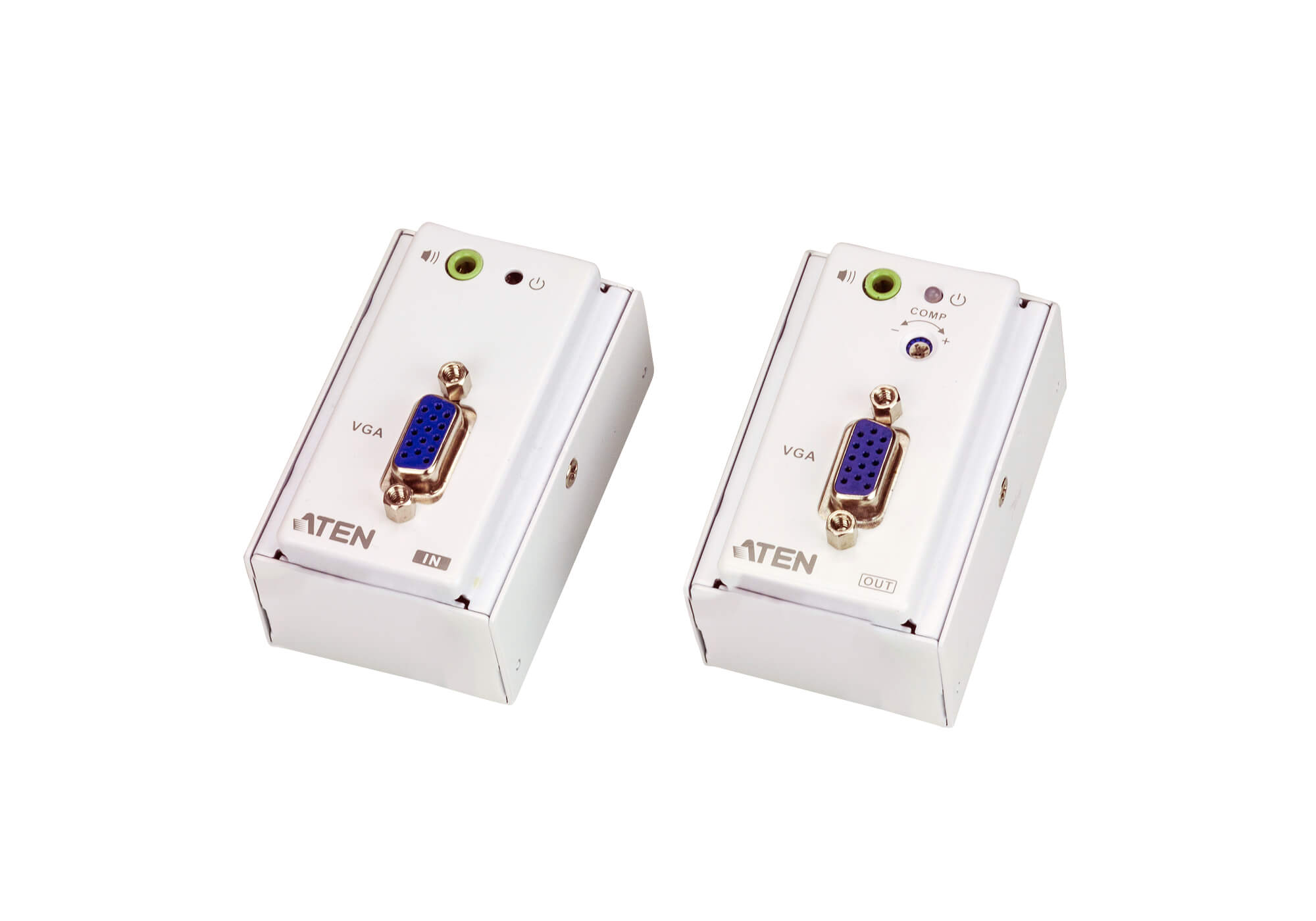 VGA/Audio Cat 5 Extender with MK Wall Plate (1280 x 1024 @150 m)-1