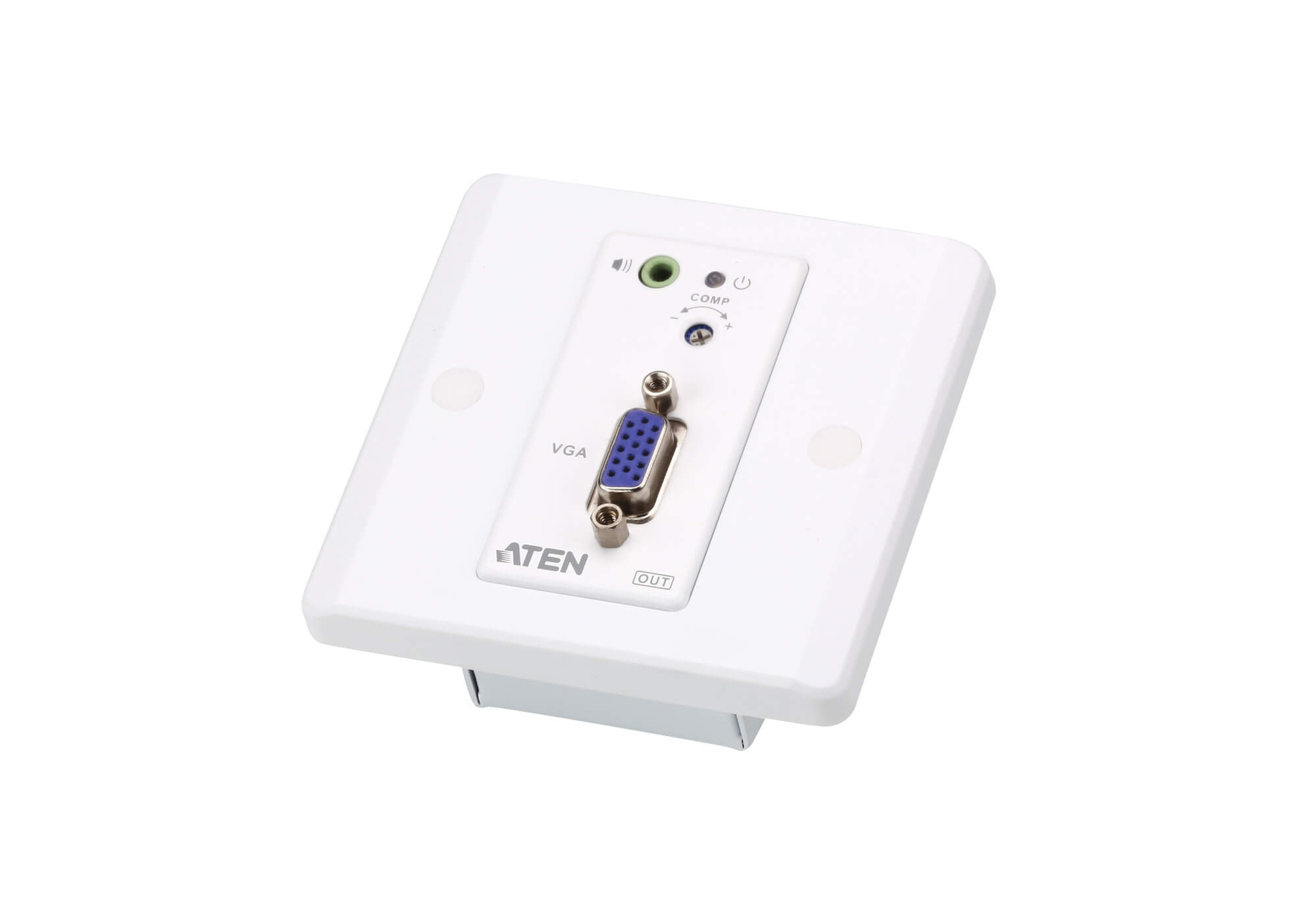 VGA/Audio Cat 5 Extender with MK Wall Plate (1280 x 1024 @150 m)-4