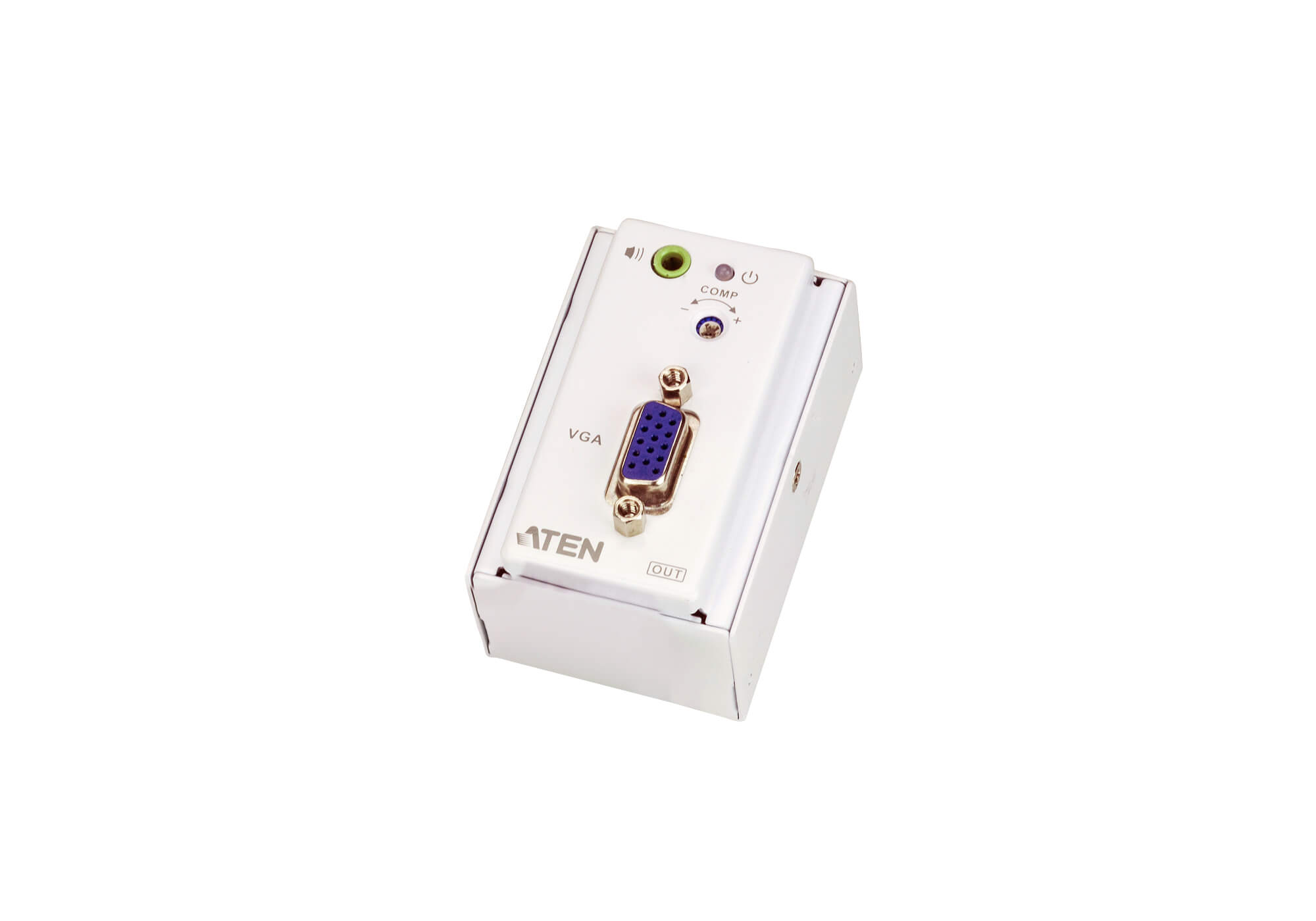 VGA/Audio Cat 5 Extender with MK Wall Plate (1280 x 1024 @150 m)-2