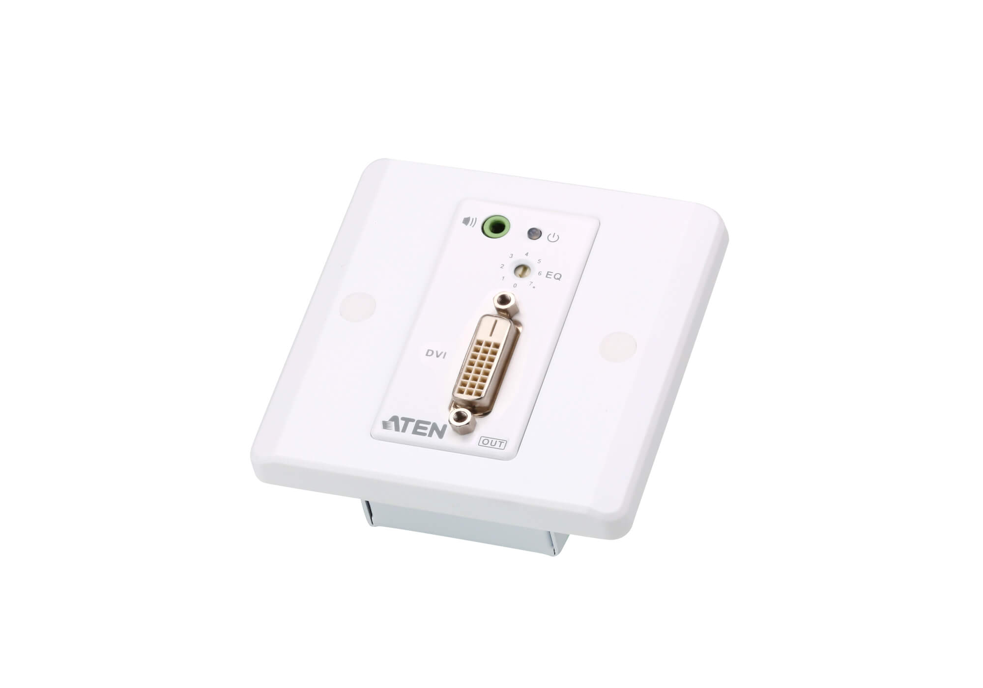 Extensor de DVI/audio Cat 5 con placa de pared MK (1920 x 1200 a 40 m)-4