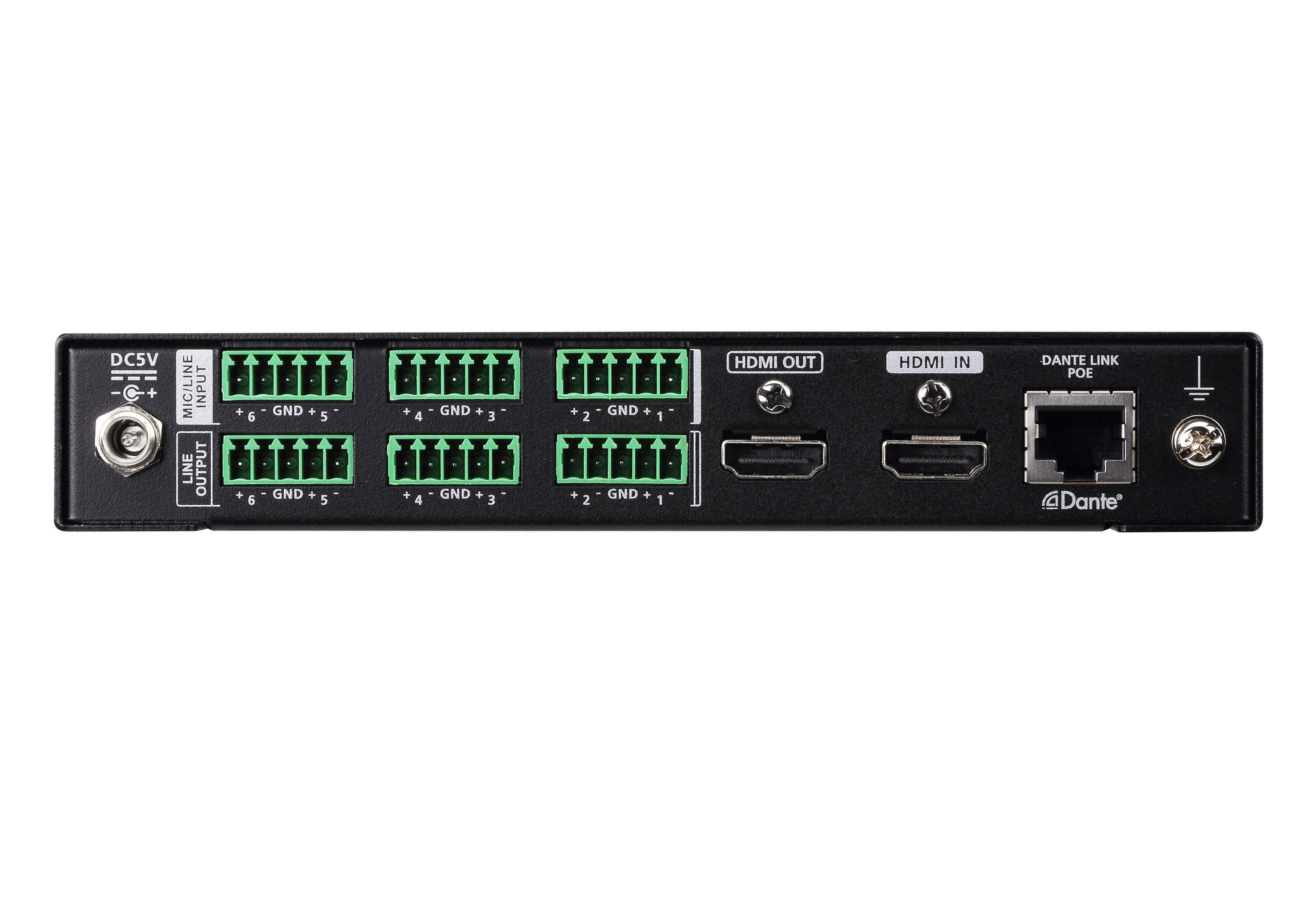 6 x 6 Dante Interface Áudio com HDMI-2