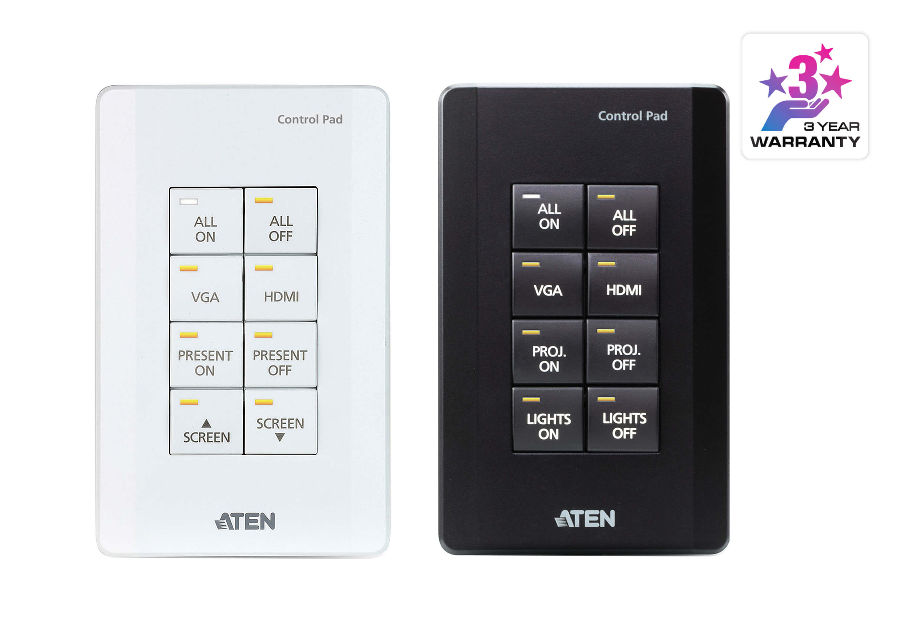 ATEN Control System - 8-button Control Pad (US, 1 Gang)-1