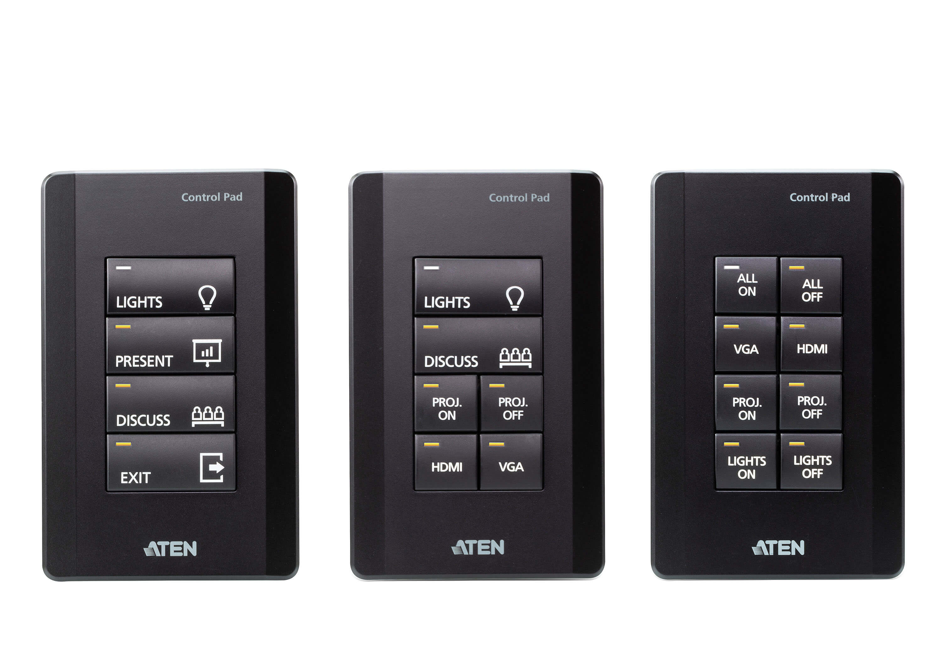 ATEN Control System - 8-button Control Pad (US, 1 Gang)-3