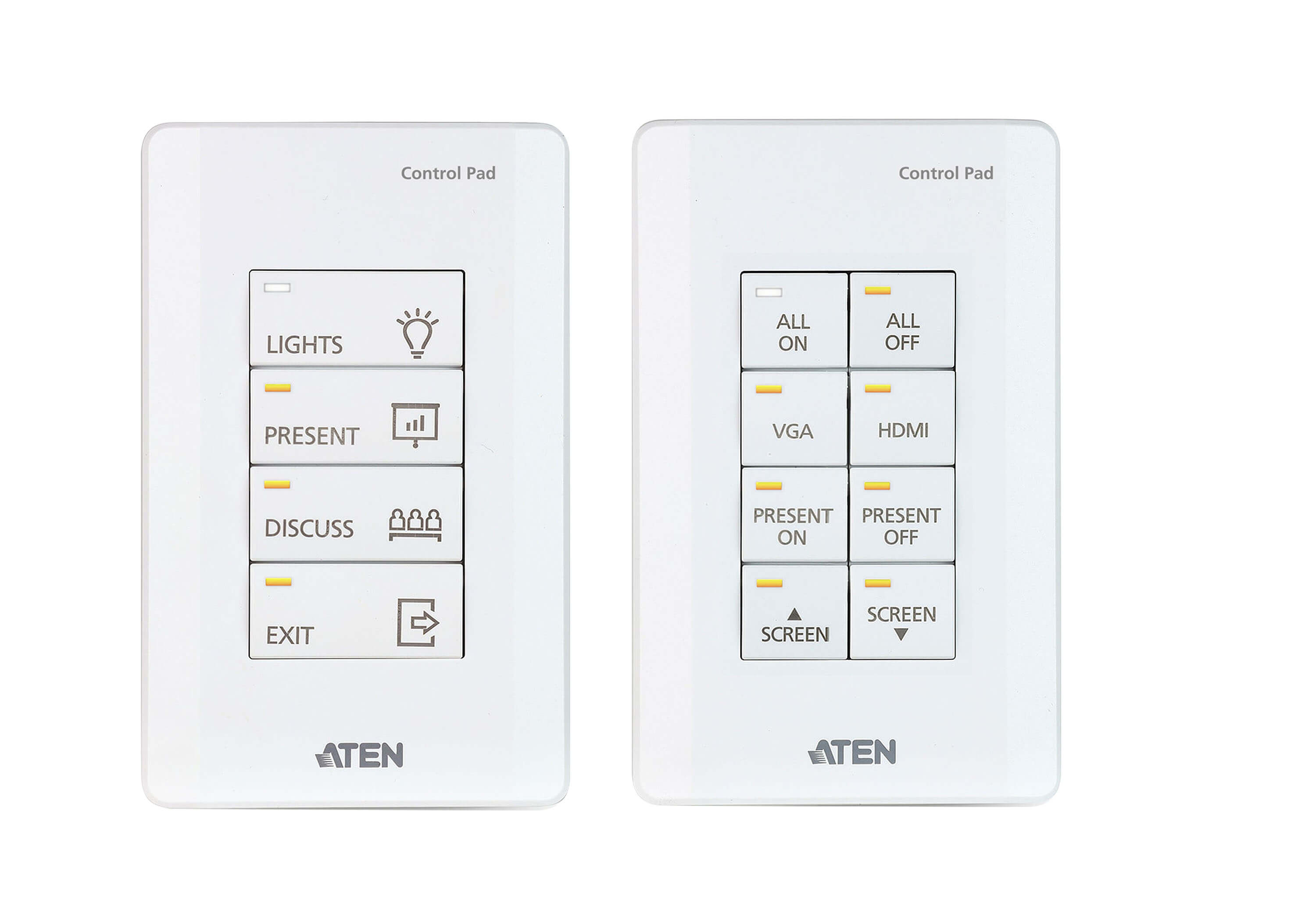 ATEN Control System - 8-button Control Pad (US, 1 Gang)-2