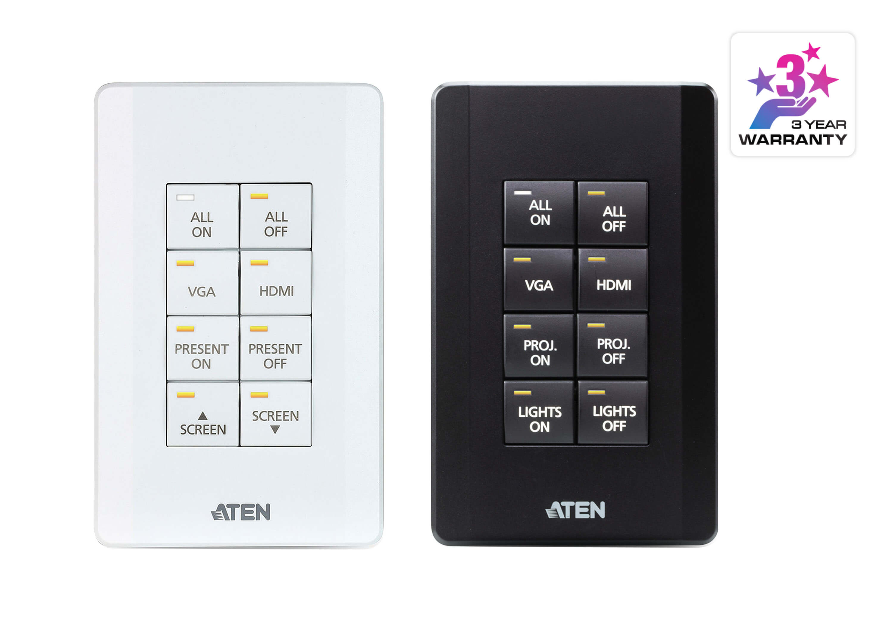 ATEN Control System - 8-button Keypad (US, 1 Gang)-1