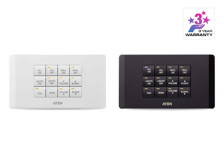 Aten Control System 12 Button Keypad Eu 2 Gang Vk112eu Burglar Alarm 1