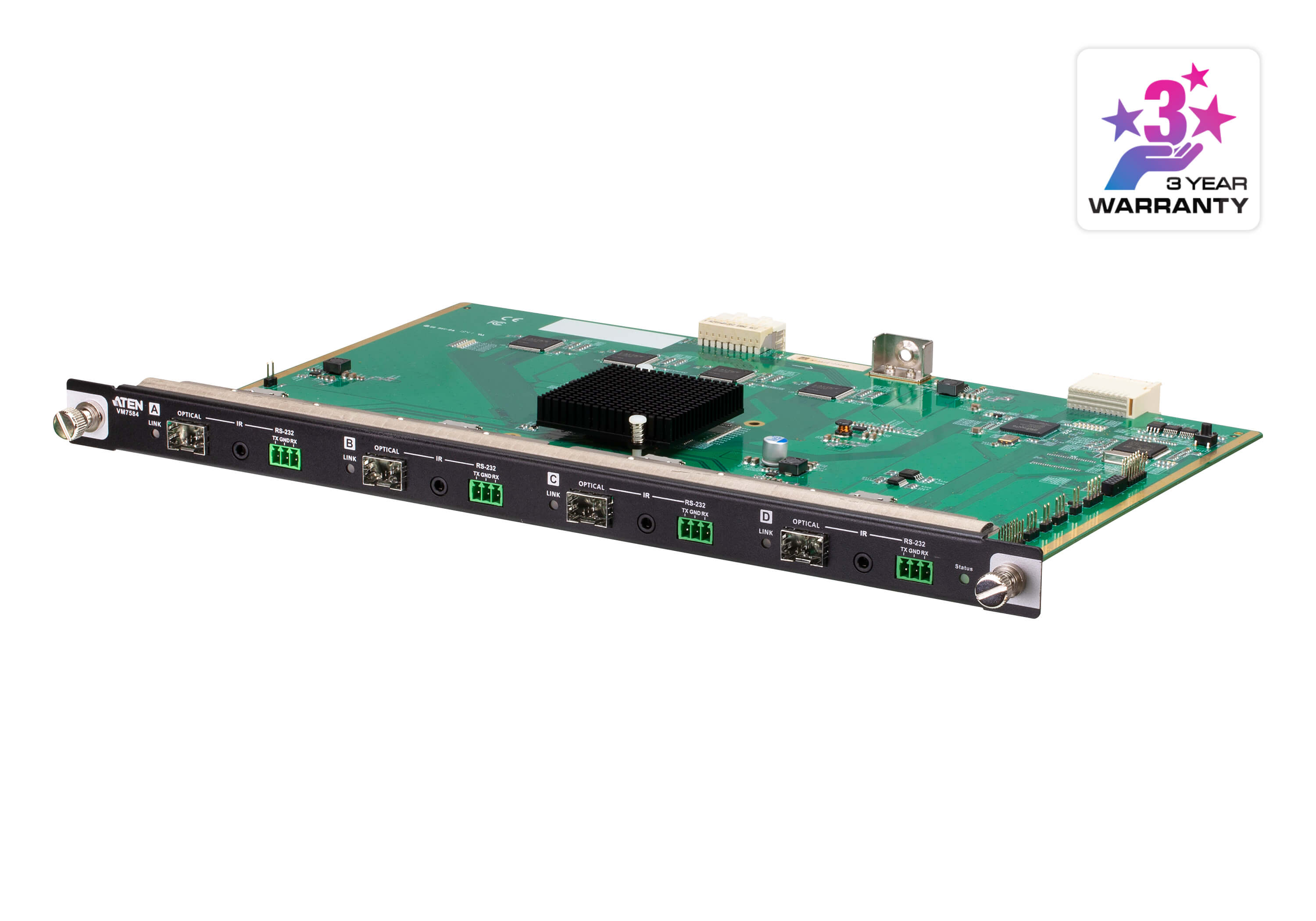 4-Port 10G Optical Input Board (4K@300m (K1, MM) / 10km (K2, SM))