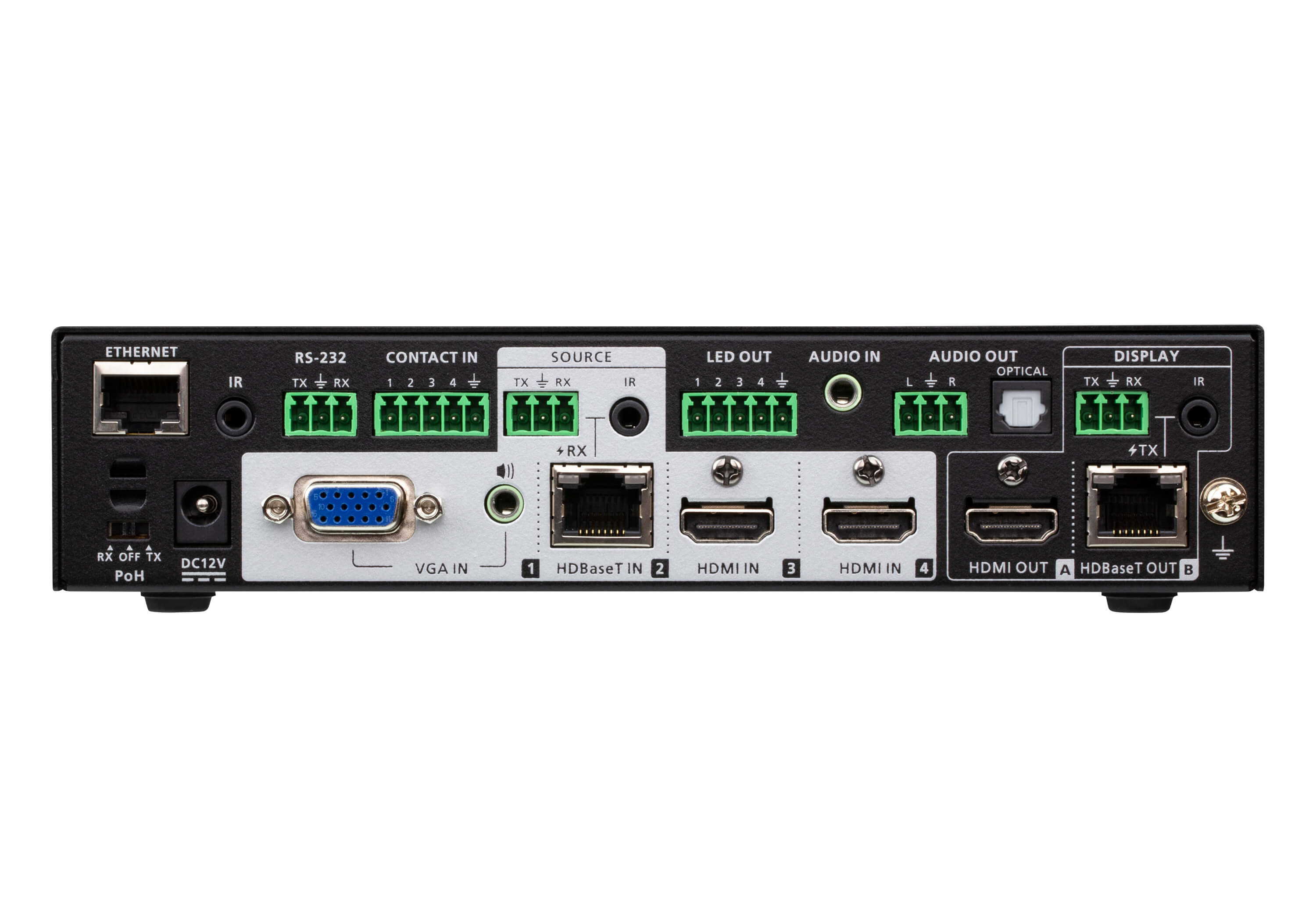 4 x 2 True 4K Presentation Matrix Switch with Scaling, DSP, and HDBaseT-Lite-2