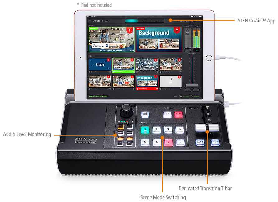 StreamLive™ HD All-in-one Multi-channel AV Mixer 6