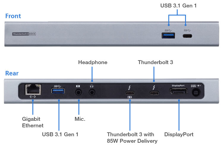 Thunderbolt™ 3 Multiport Dock with Power Charging - UH7230